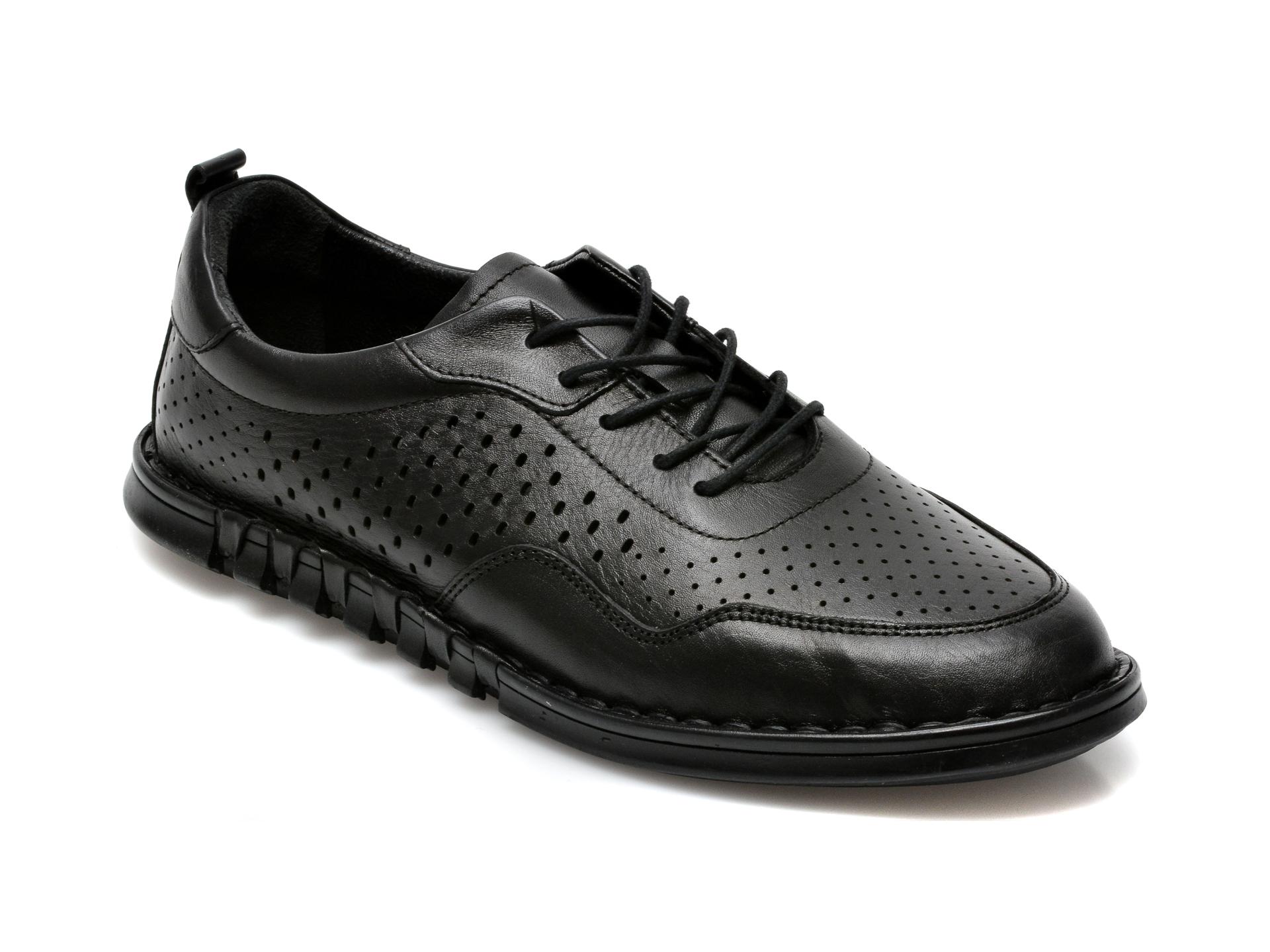Pantofi OTTER negri, 301103, din piele naturala imagine otter.ro 2021