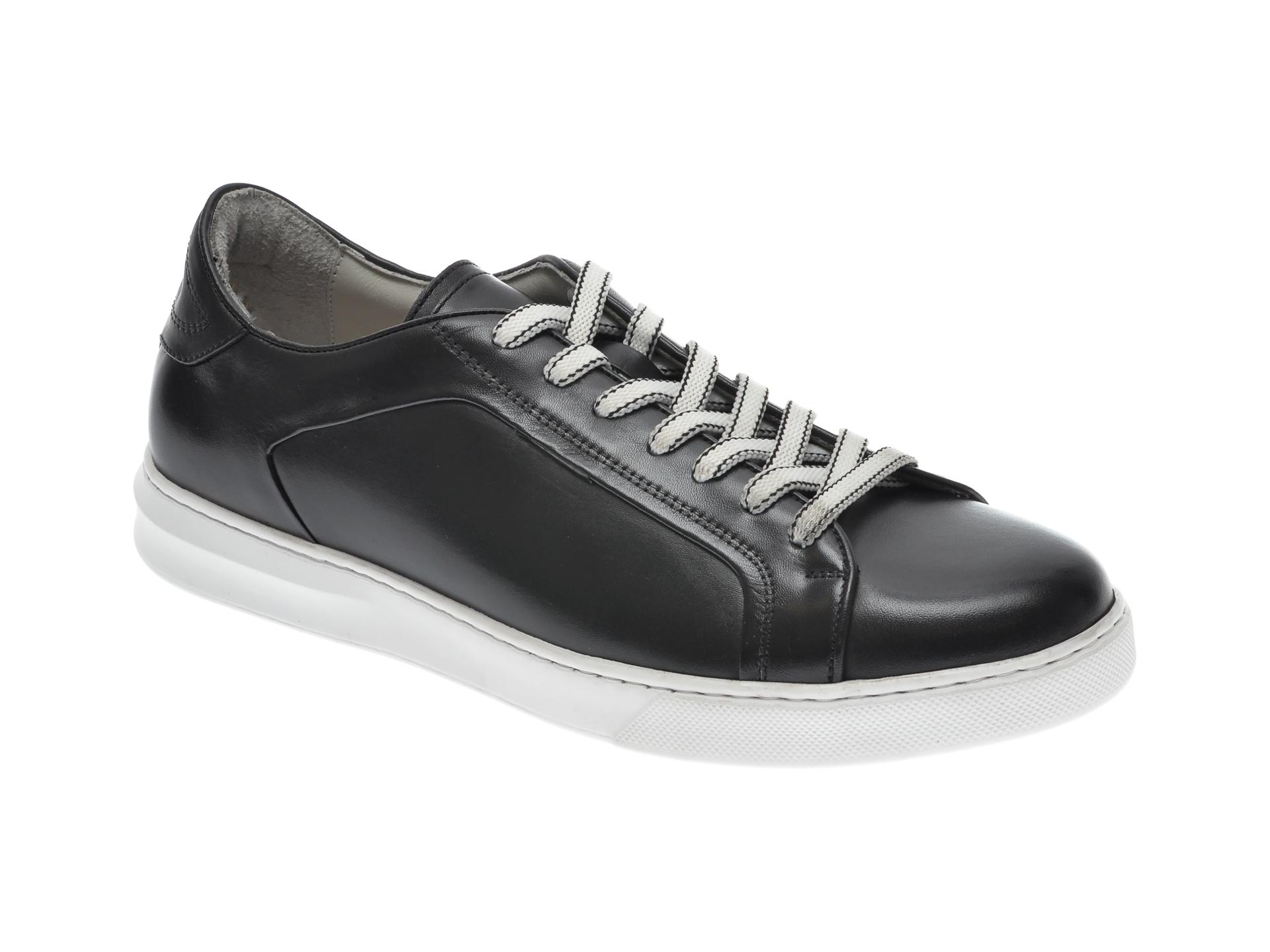 Pantofi OTTER negri, 3384, din piele naturala imagine