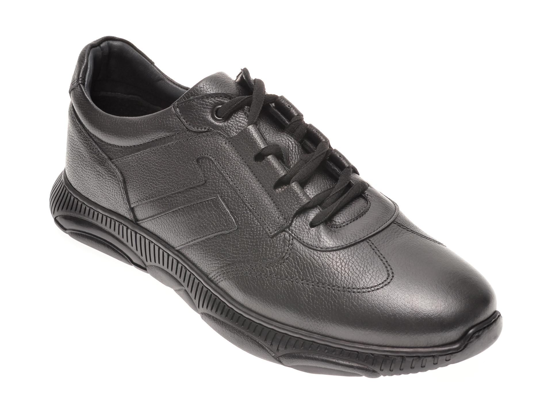 Pantofi OTTER negri, 37109, din piele naturala New