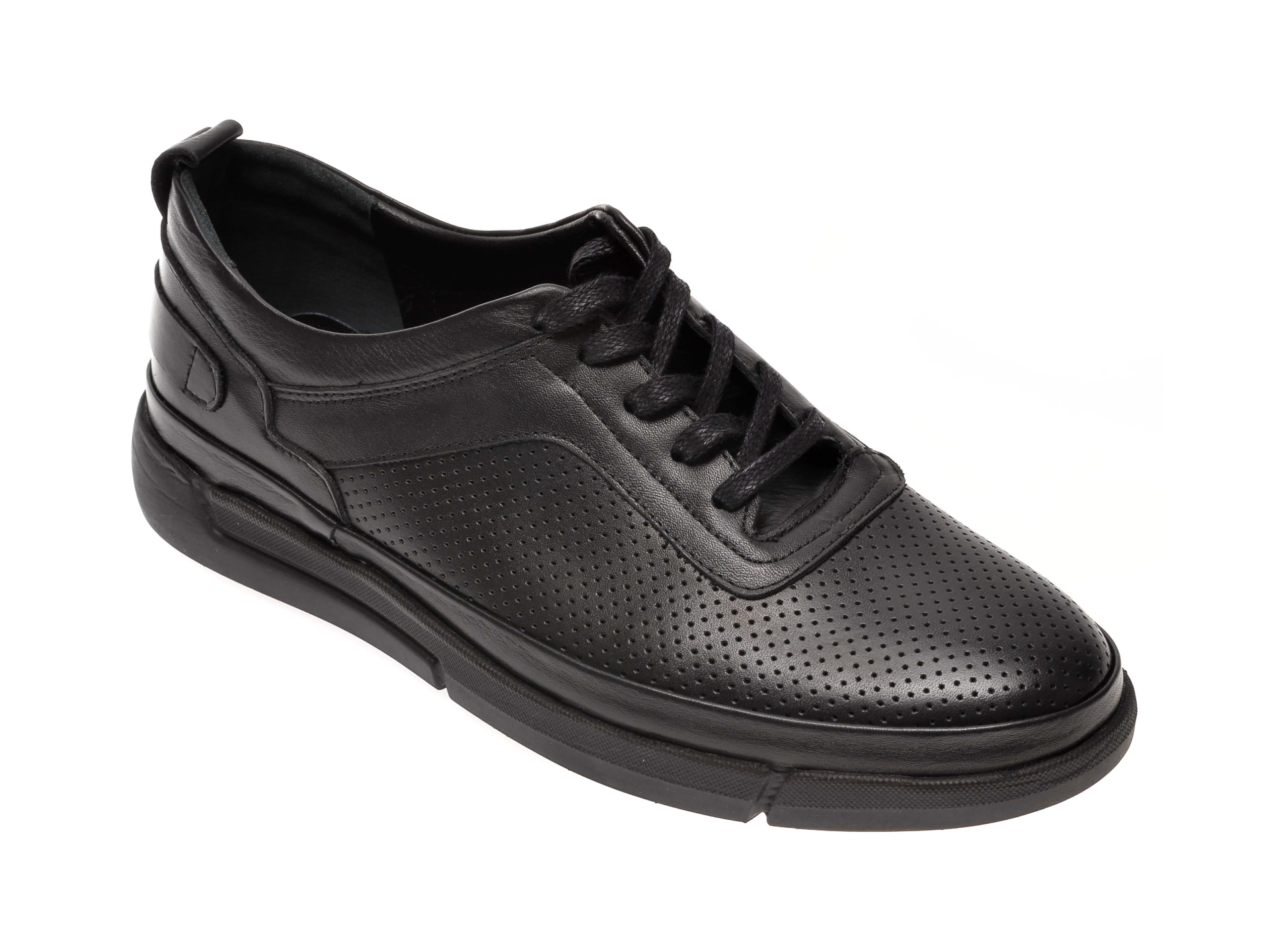 Pantofi OTTER negri, 402, din piele naturala imagine