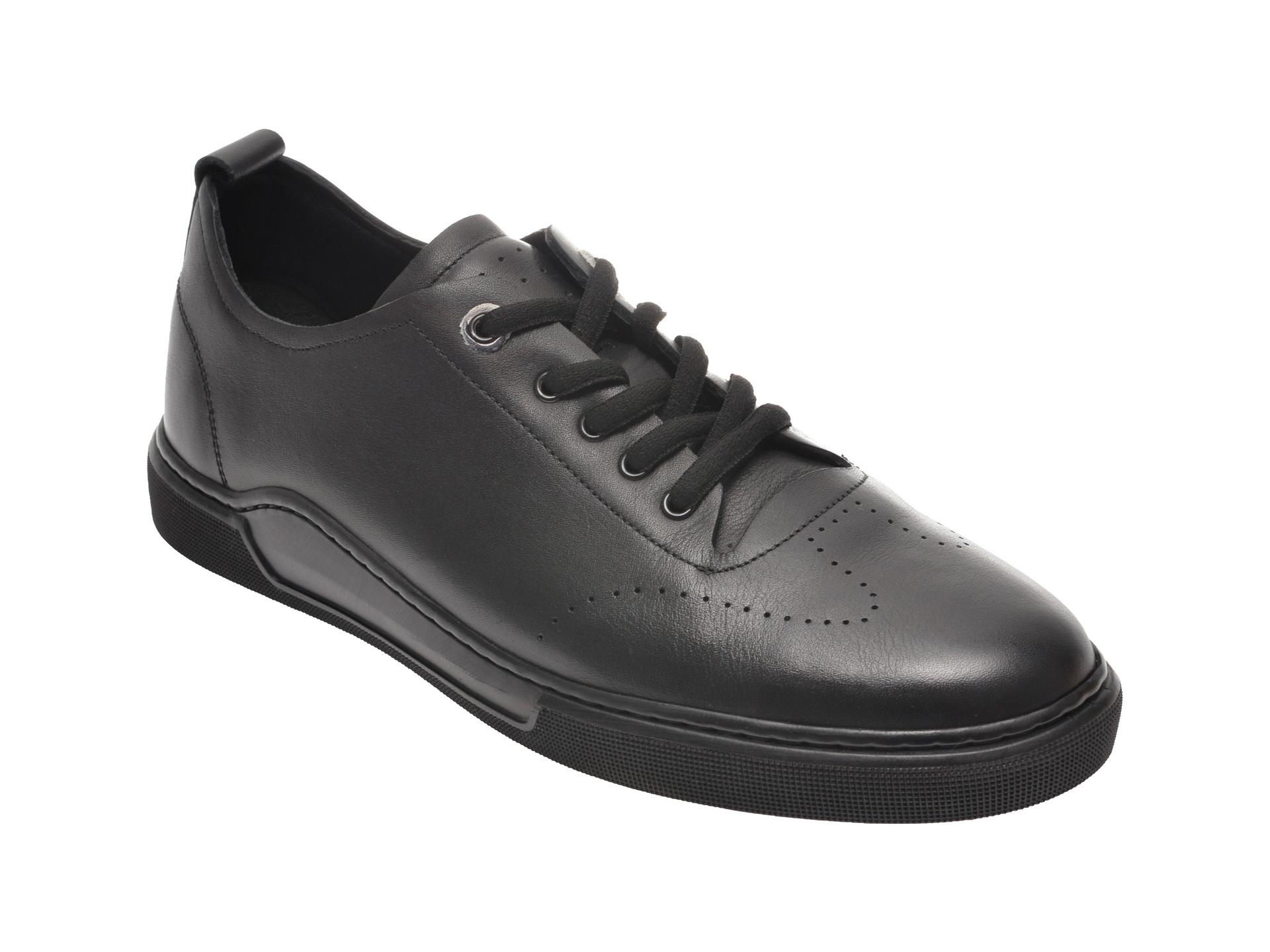 Pantofi OTTER negri, 48701, din piele naturala imagine