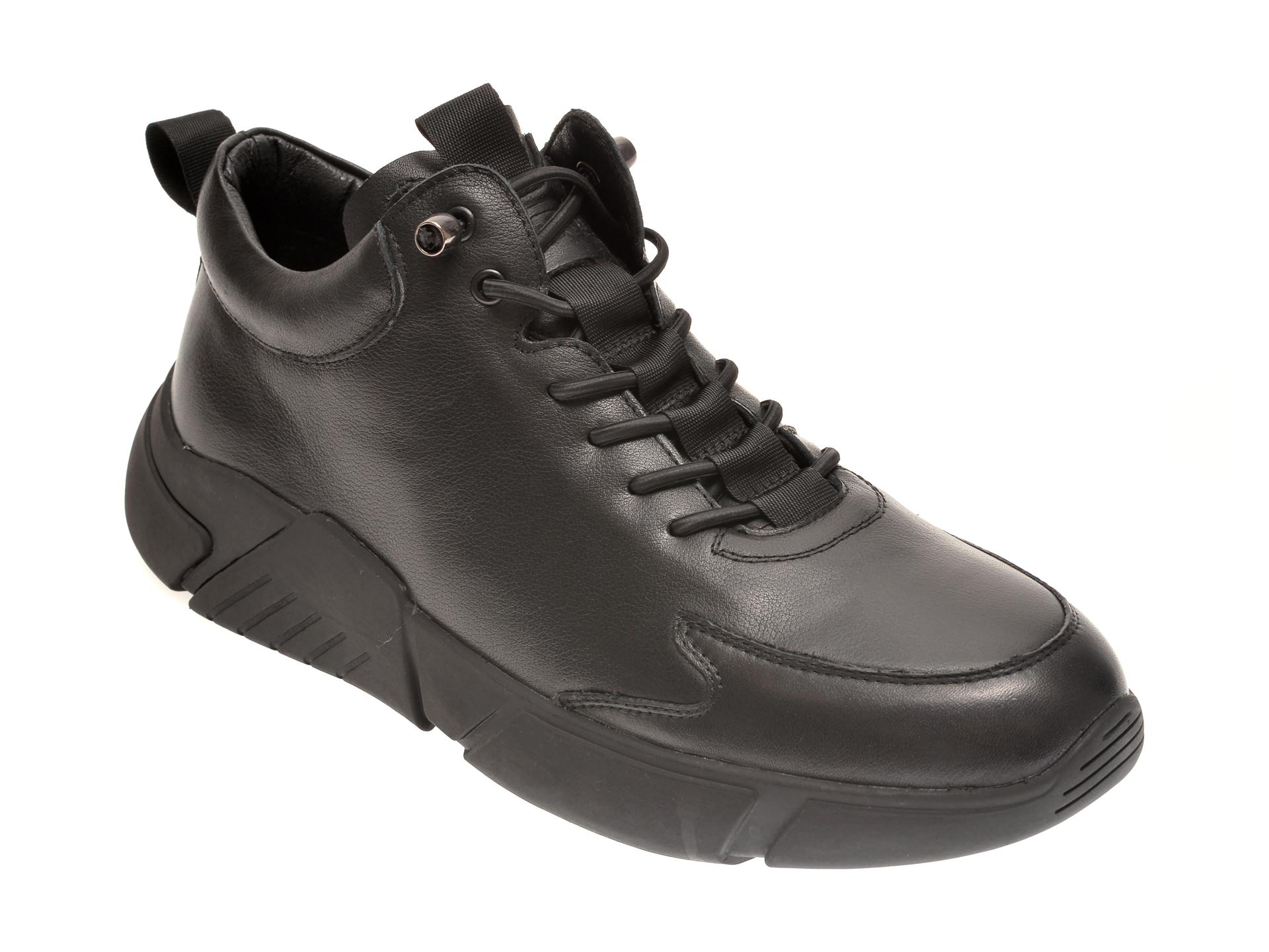 Pantofi OTTER negri, 51451, din piele naturala