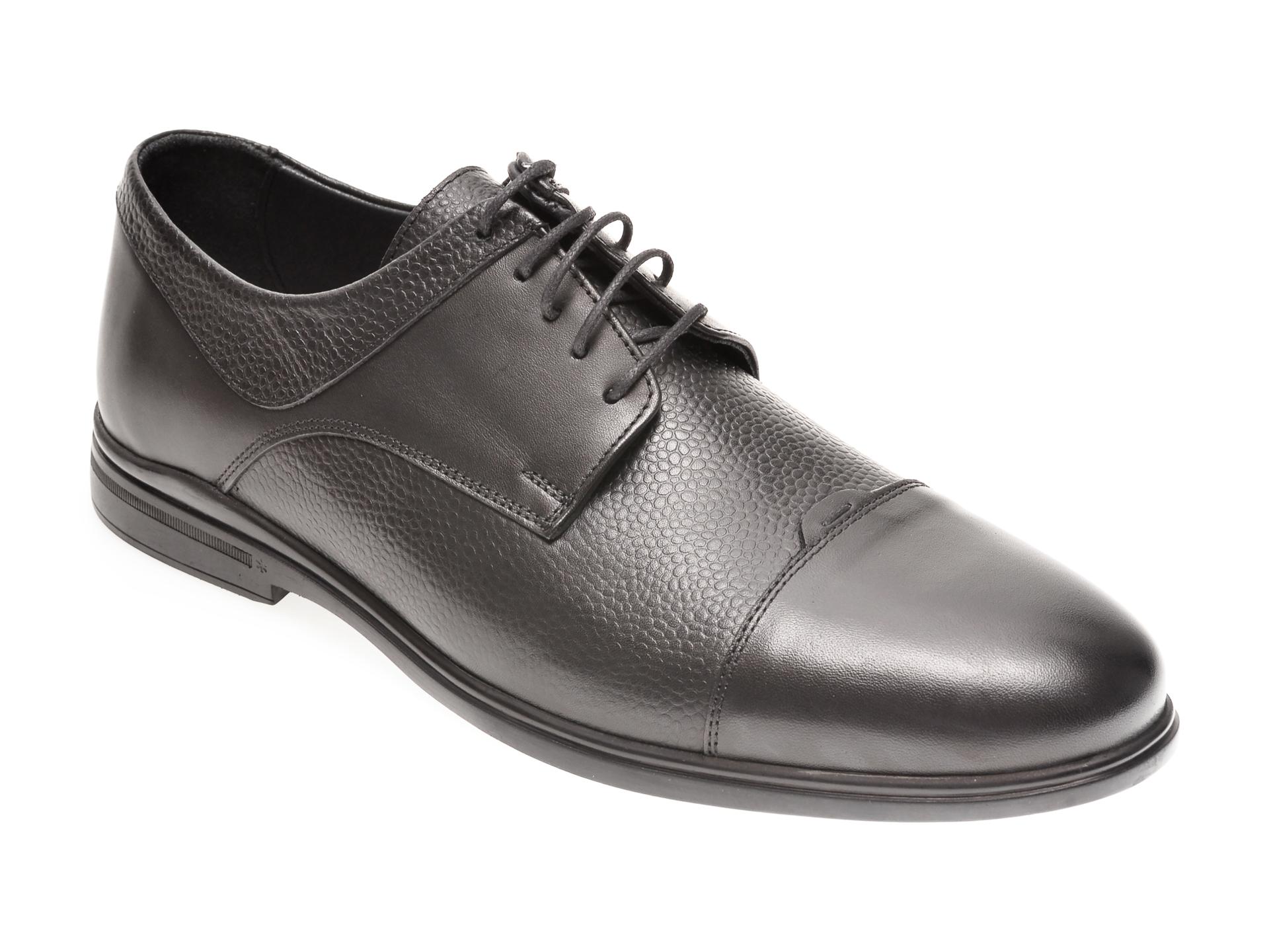 Pantofi OTTER negri, 77704, din piele naturala imagine