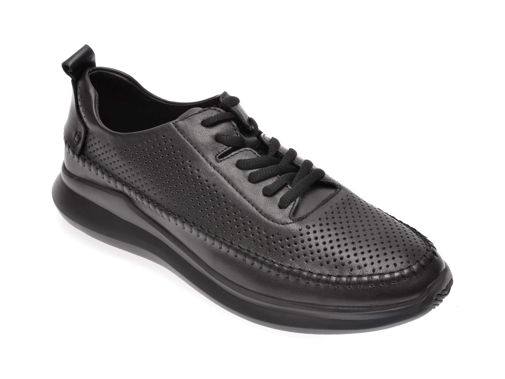 Pantofi OTTER negri, 7830810, din piele naturala imagine