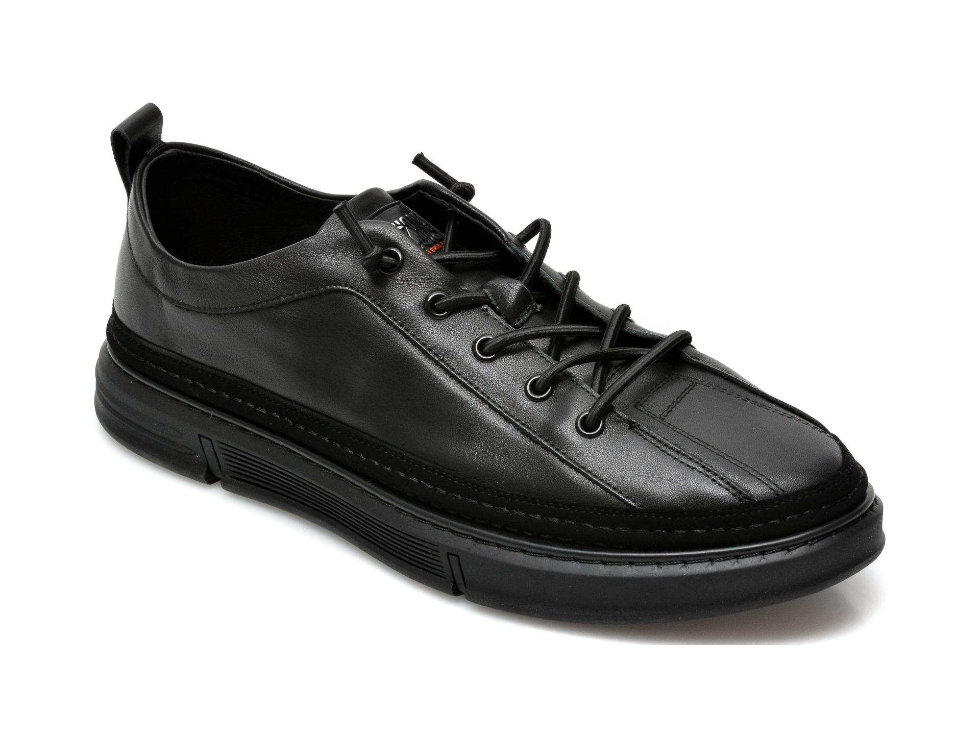 Pantofi OTTER negri, 81031, din piele naturala imagine otter.ro 2021