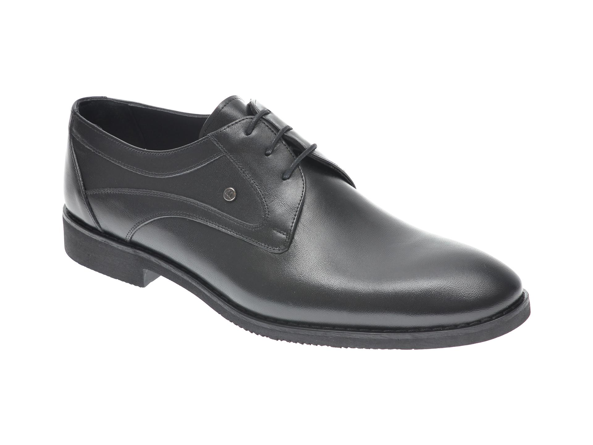 Pantofi OTTER negri, 815, din piele naturala imagine