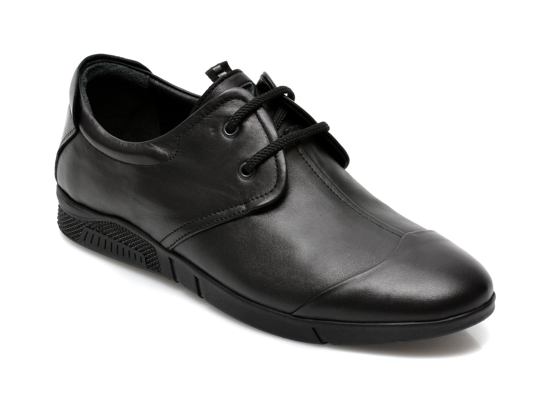 Pantofi OTTER negri, 99110, din piele naturala imagine otter.ro 2021
