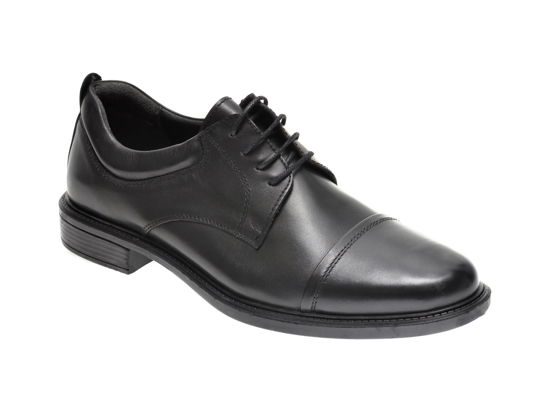 Pantofi OTTER negri, C019, din piele naturala imagine