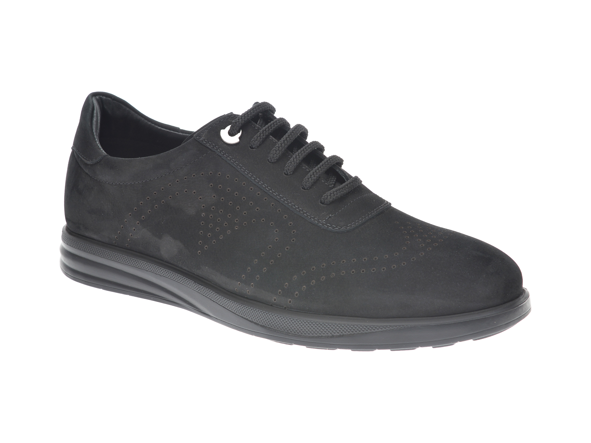Pantofi OTTER negri, E881, din nabuc New