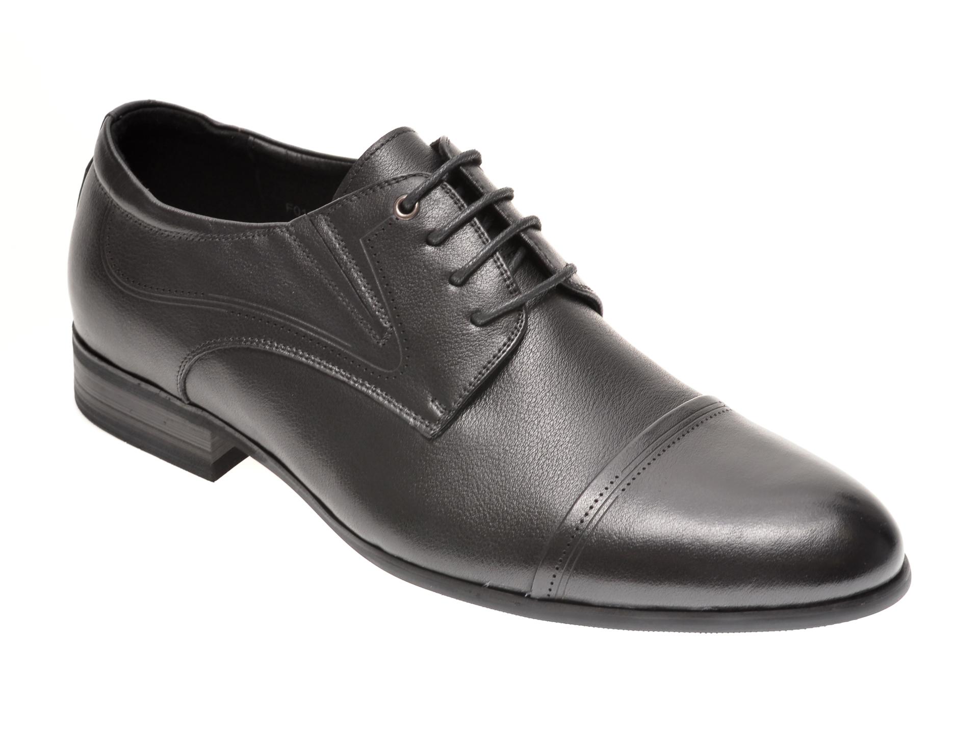 Pantofi OTTER negri, F01891, din piele naturala imagine otter.ro 2021