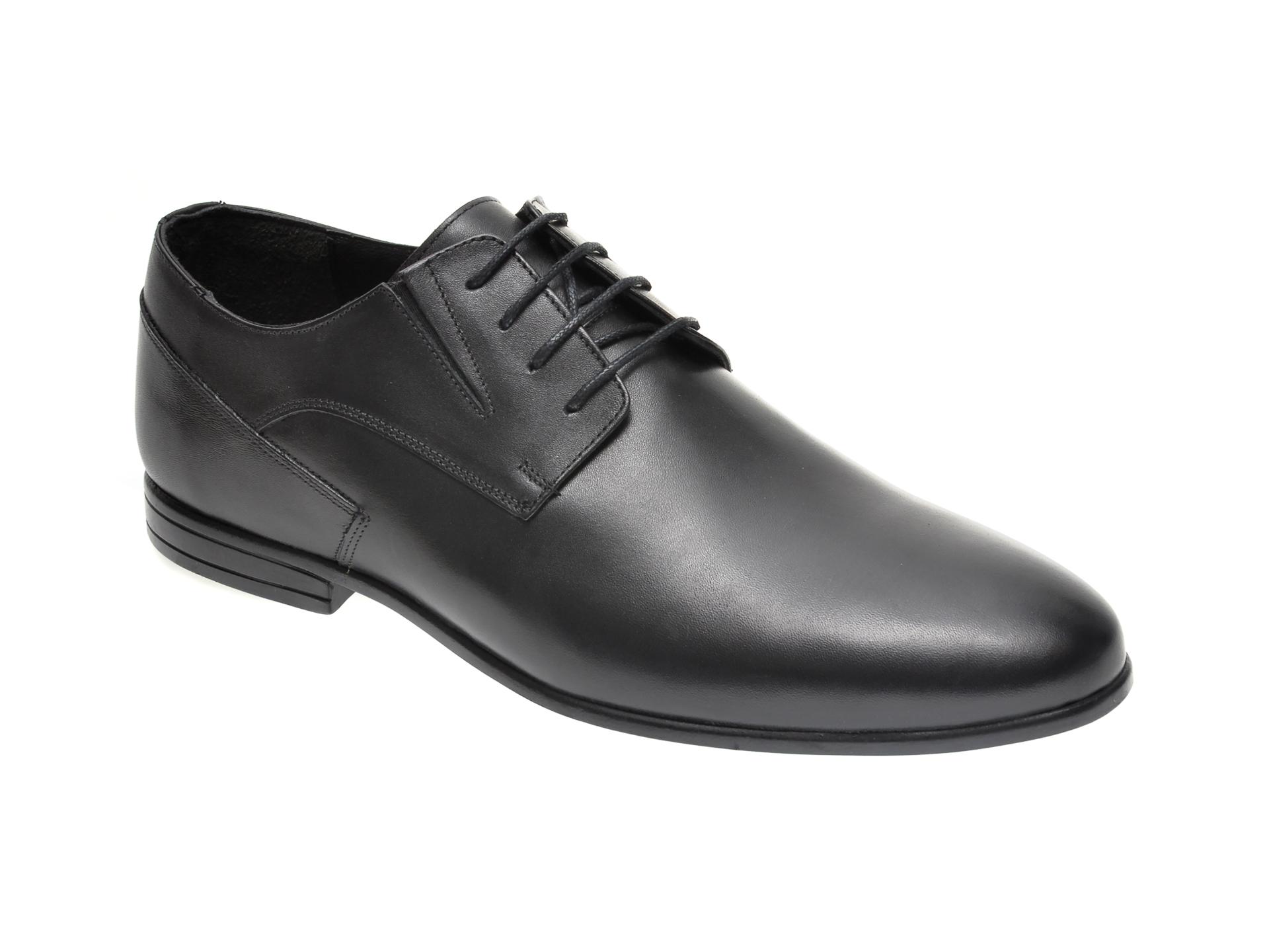 Pantofi OTTER negri, K31, din piele naturala imagine otter.ro 2021