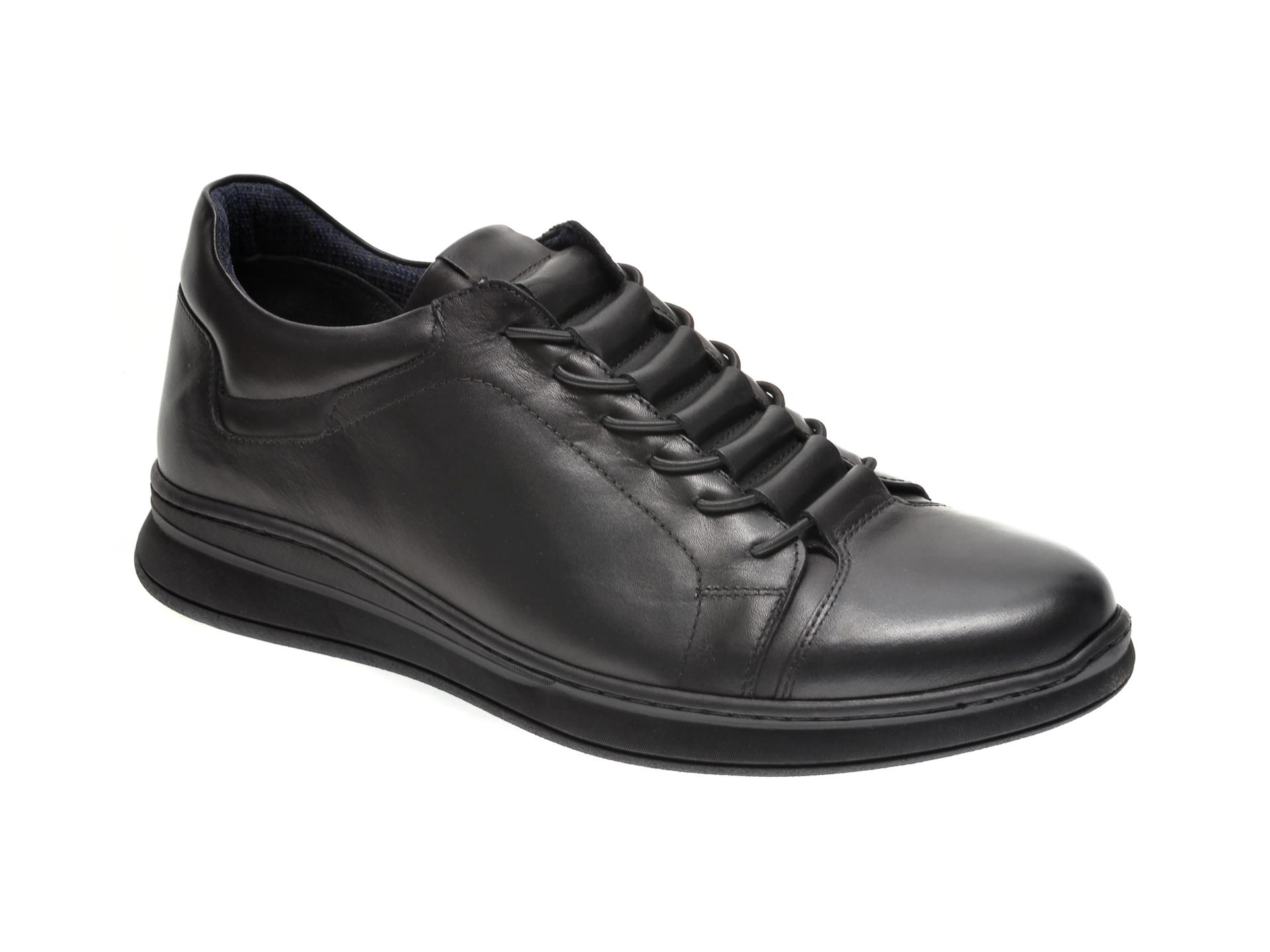 Pantofi OTTER negri, K35, din piele naturala imagine