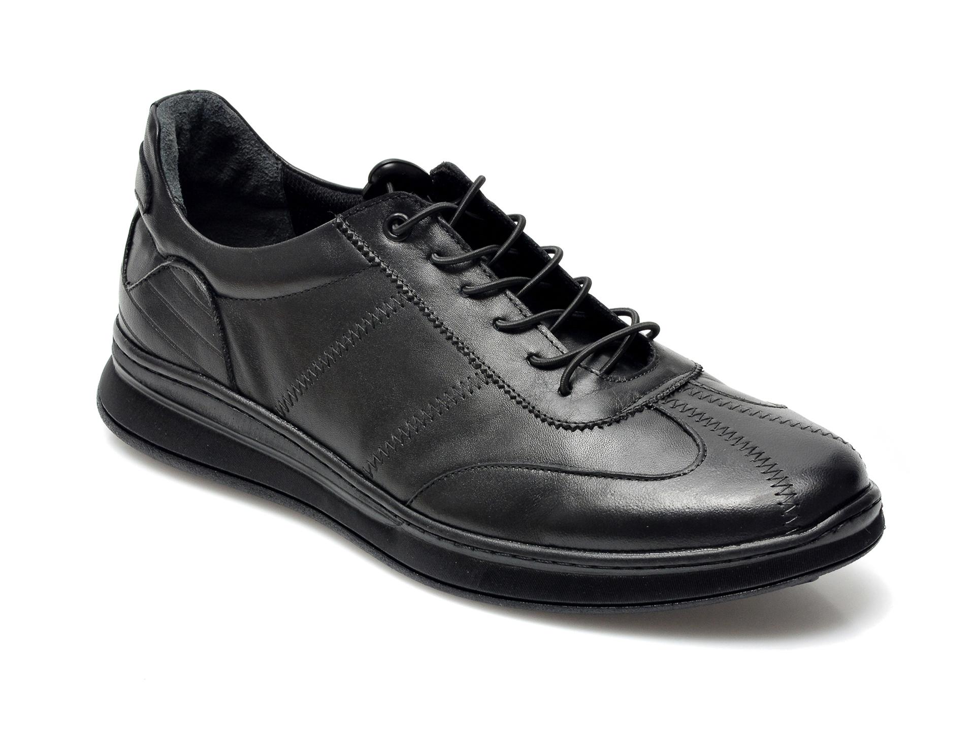Pantofi OTTER negri, K35AA, din piele naturala imagine otter.ro 2021