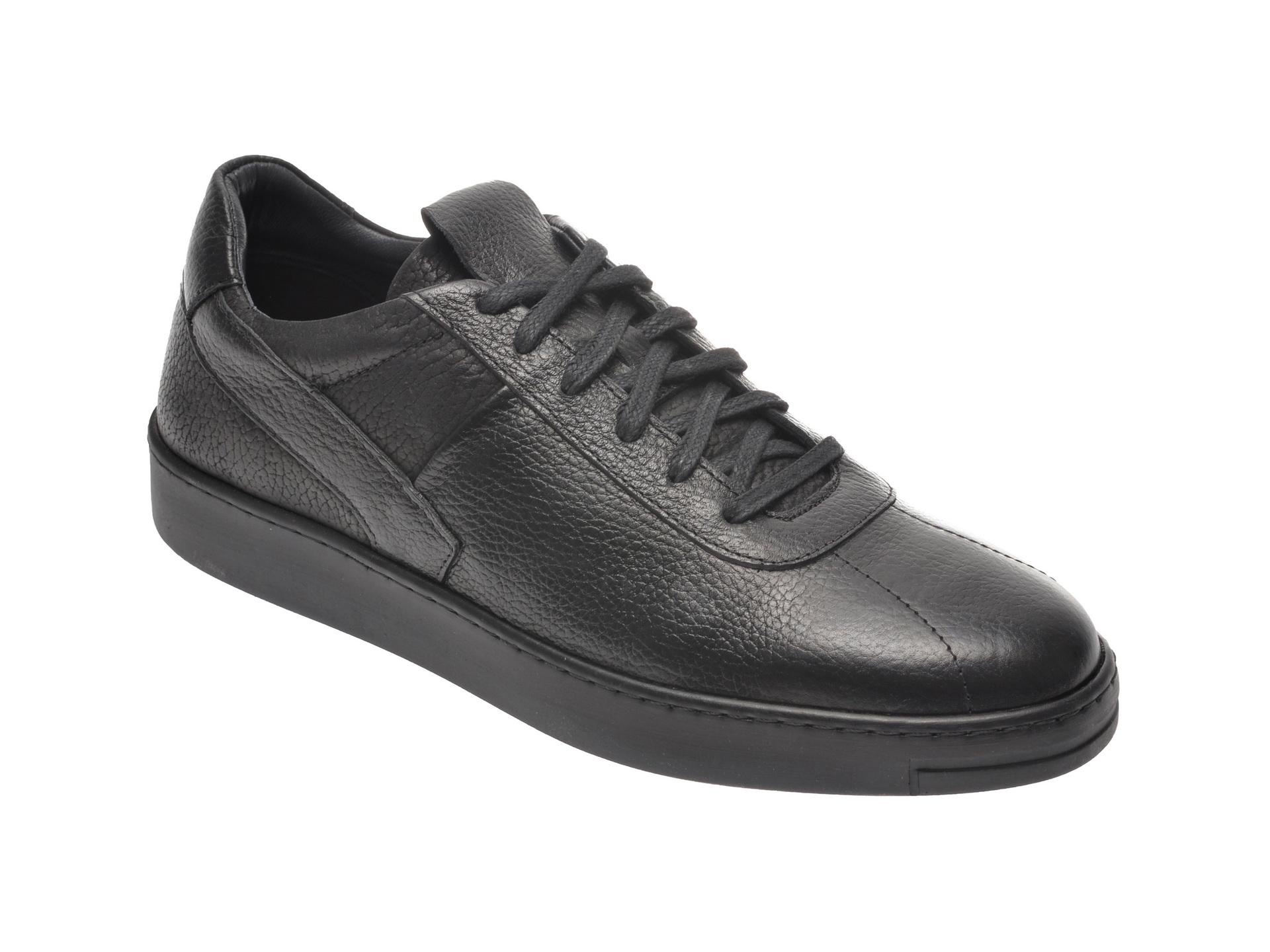 Pantofi OTTER negri, M403, din piele naturala imagine