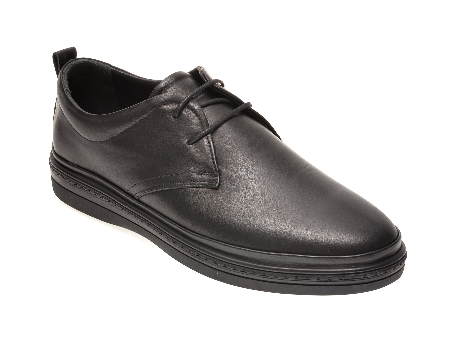 Pantofi OTTER negri, M5380, din piele naturala imagine