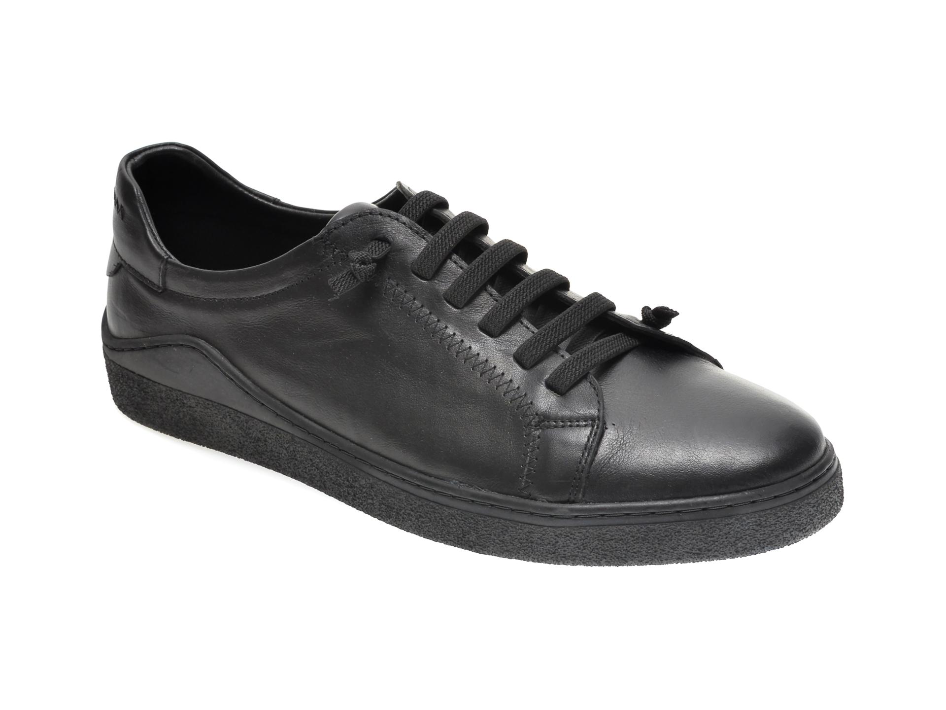 Pantofi OTTER negri, M5607, din piele naturala imagine