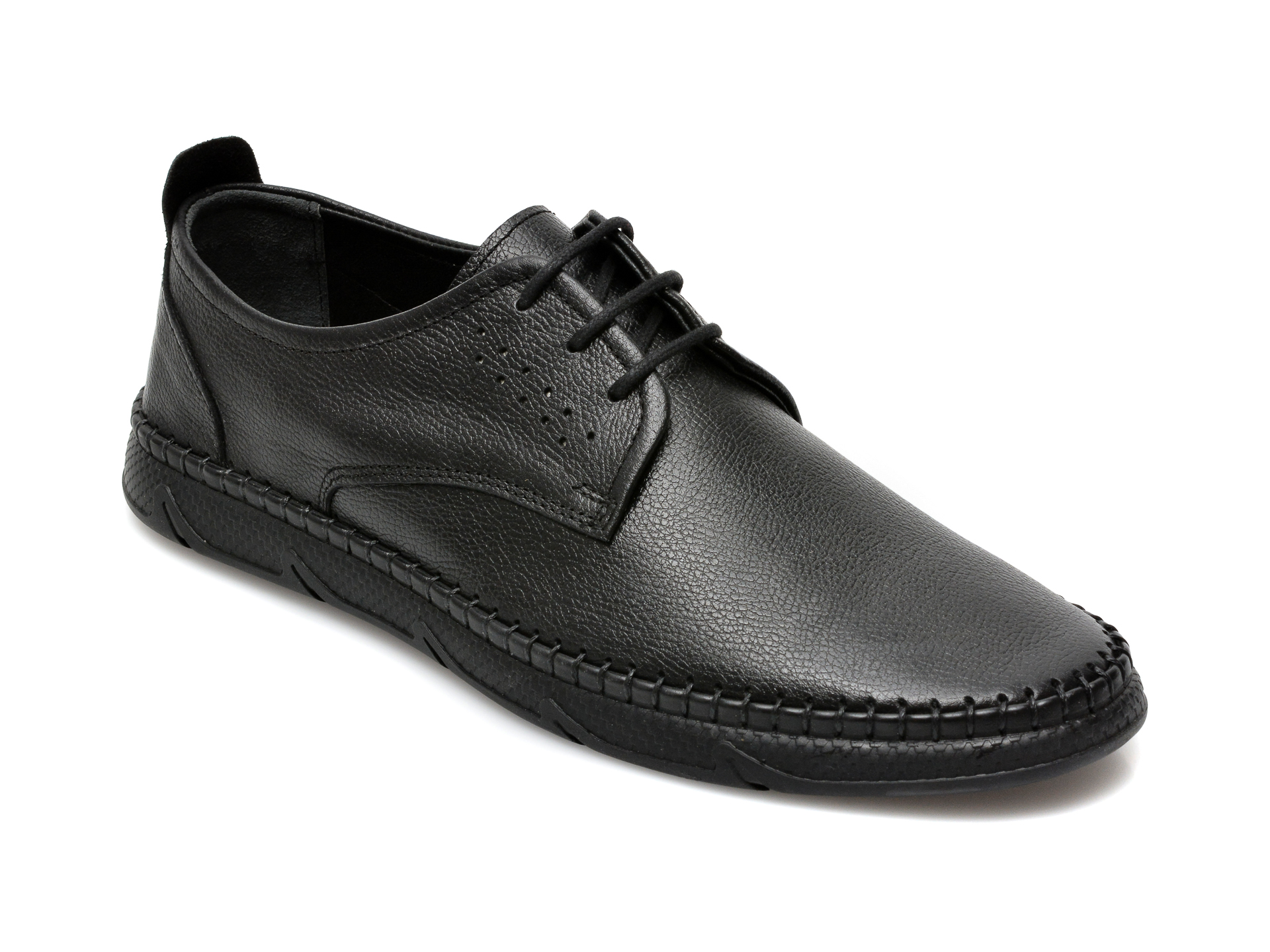 Pantofi OTTER negri, M5650, din piele naturala imagine otter.ro 2021