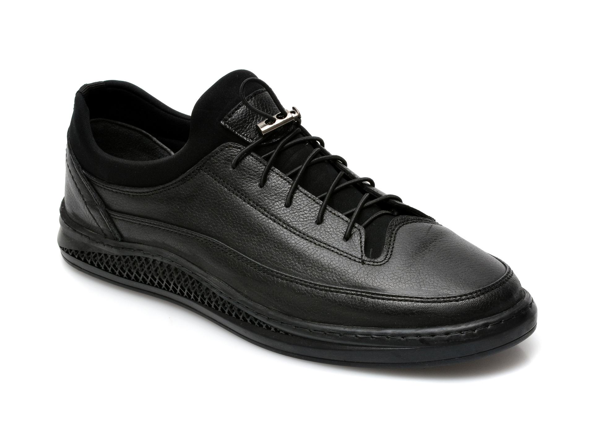 Pantofi OTTER negri, M5792, din piele naturala imagine otter.ro 2021