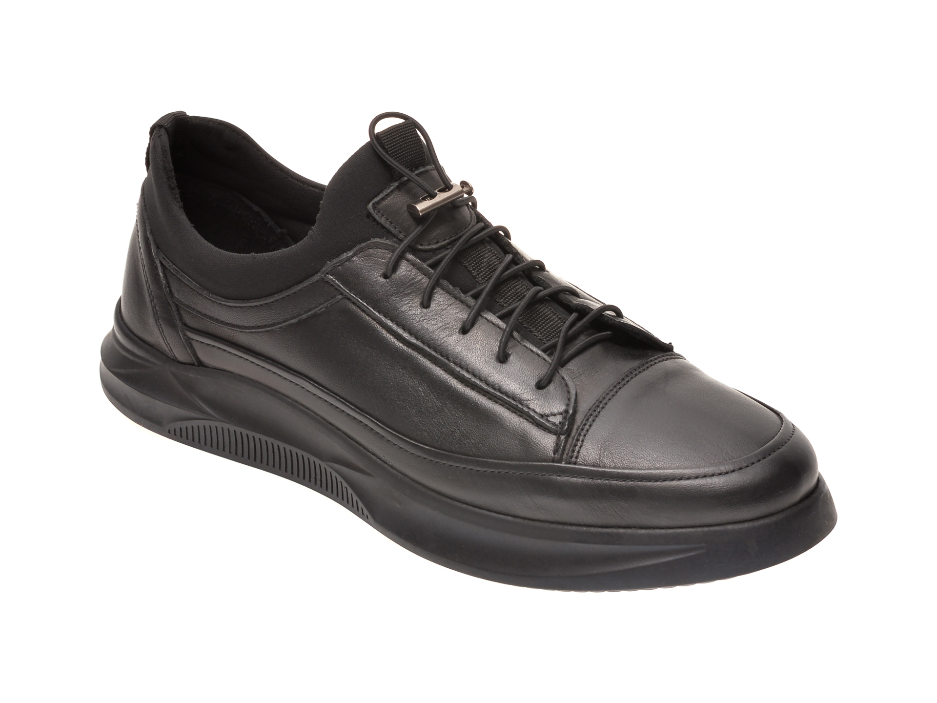 Pantofi OTTER negri, M5794, din piele naturala imagine