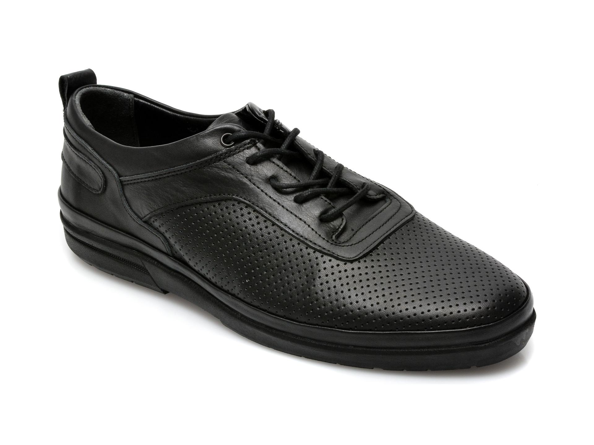 Pantofi OTTER negri, M6006, din piele naturala imagine otter.ro 2021