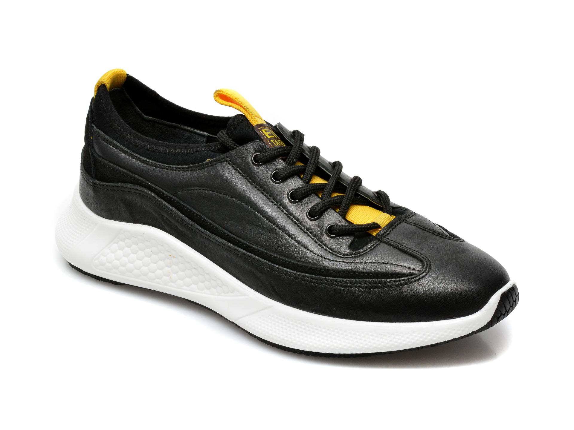 Pantofi OTTER negri, M6049, din piele naturala imagine otter.ro 2021
