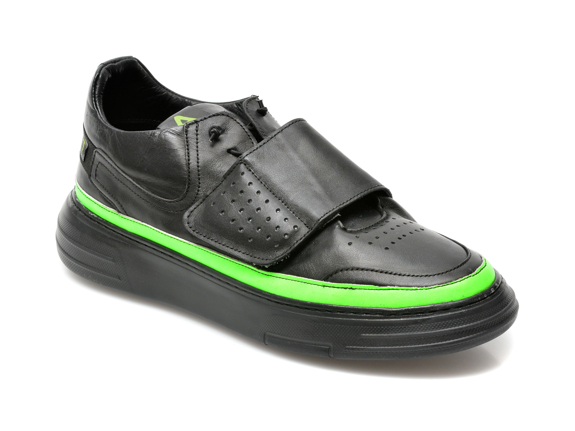 Pantofi OTTER negri, M6061, din piele naturala