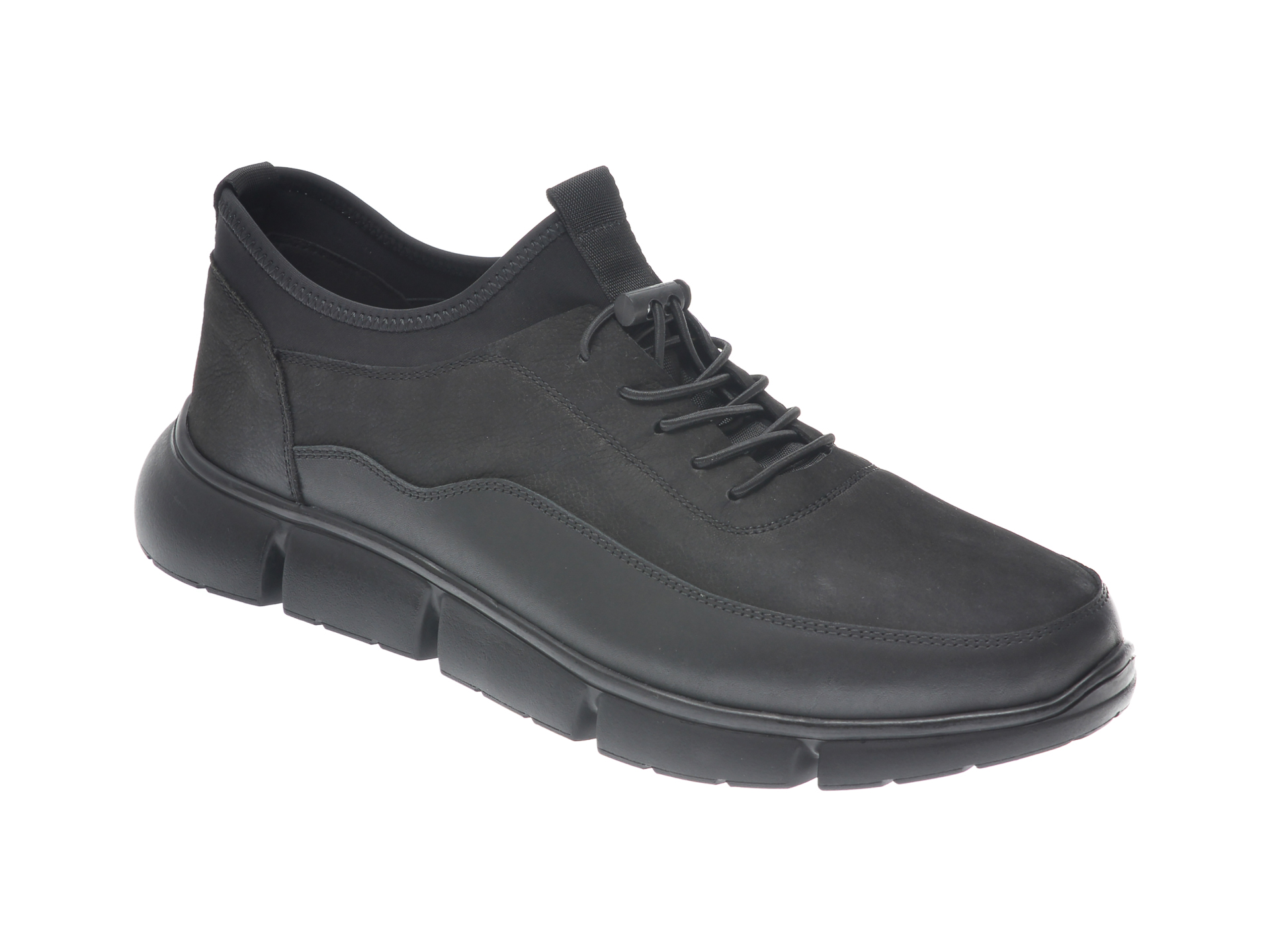Pantofi OTTER negri, S0761819, din piele naturala New