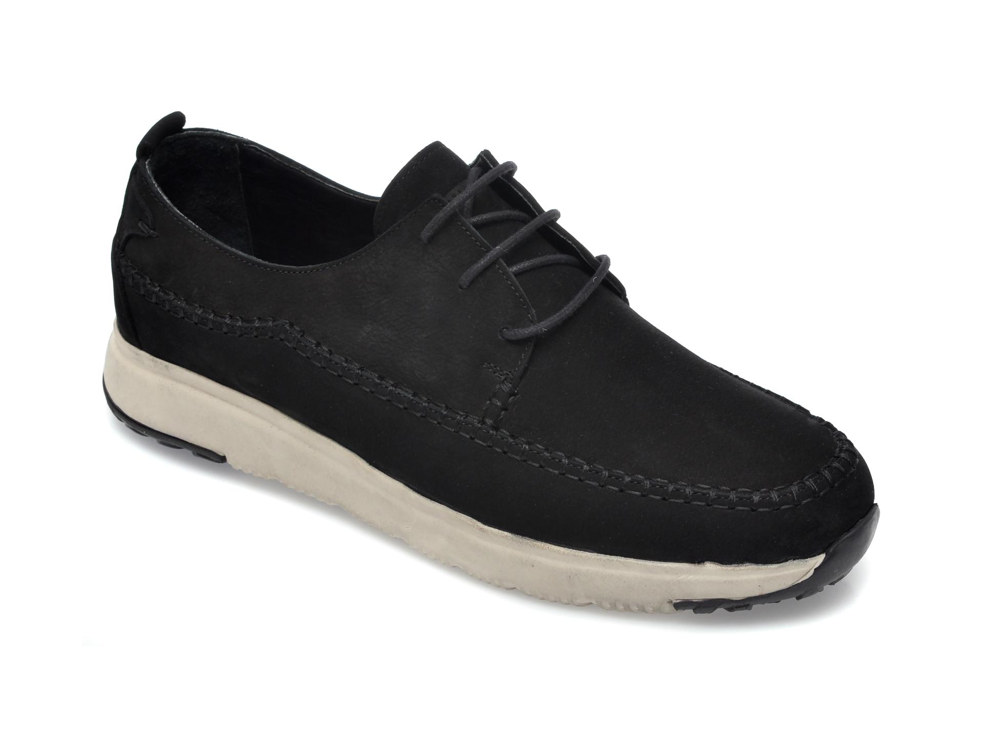 Pantofi OTTER negri, SF200, din nabuc imagine