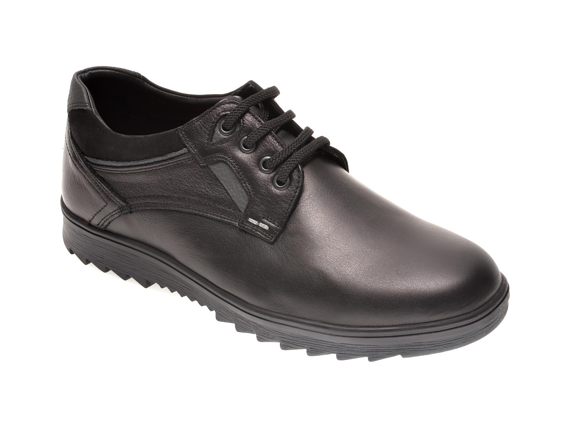 Pantofi OTTER negri, T4, din piele naturala imagine