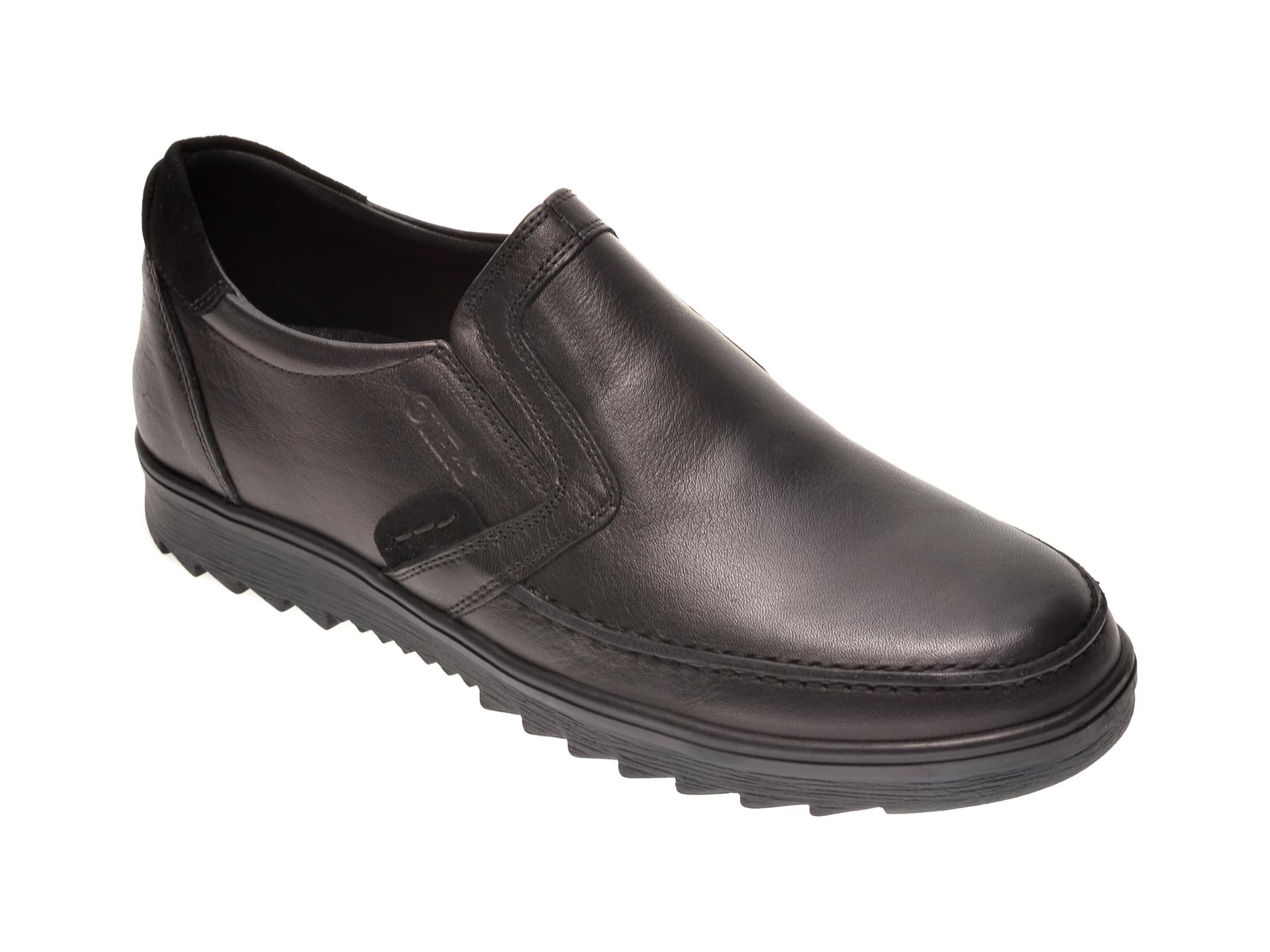 Pantofi OTTER negri, T9, din piele naturala New