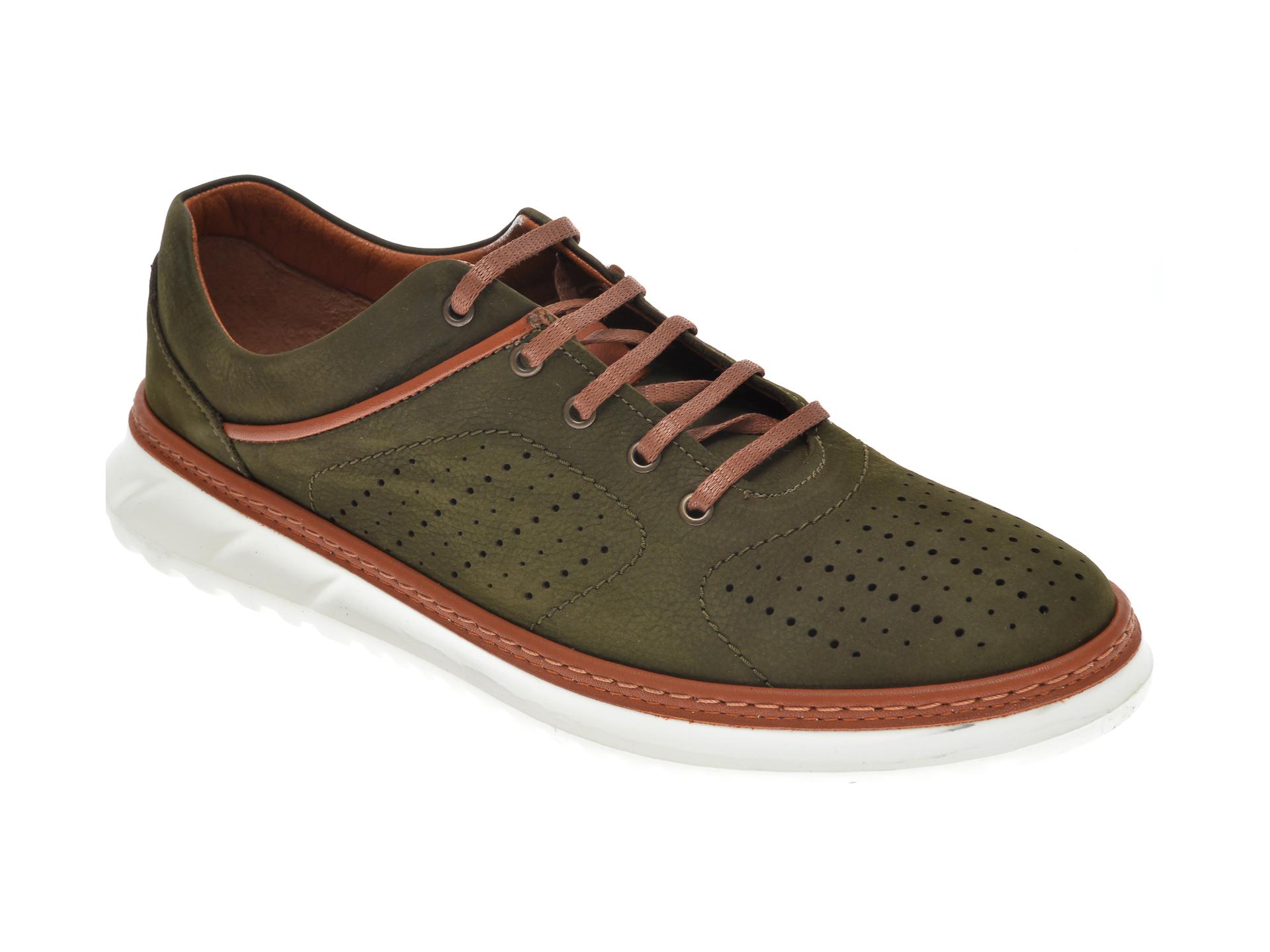 Pantofi OTTER verzi, 1830, din nabuc