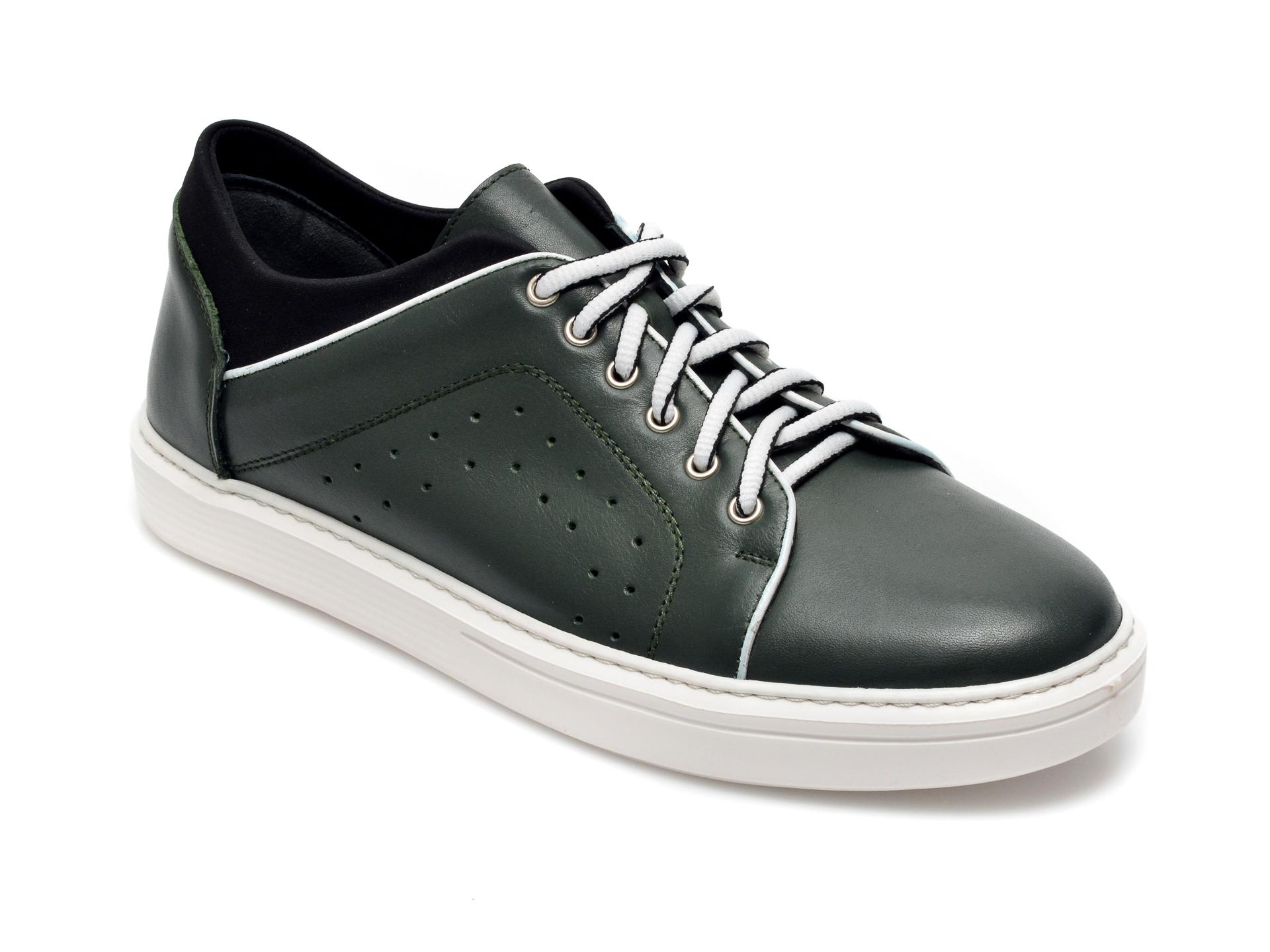 Pantofi Otter Verzi, 959, Din Piele Naturala