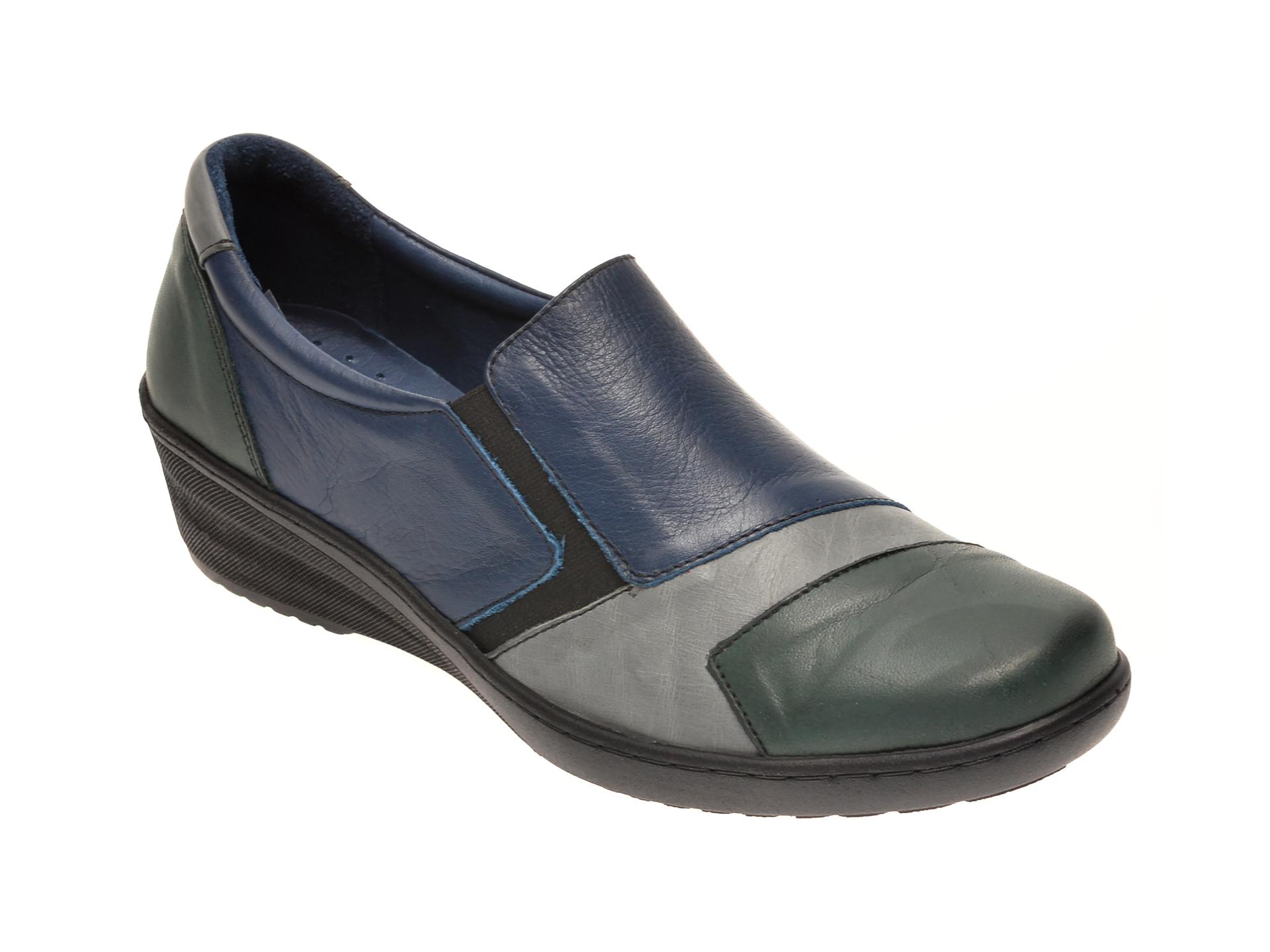 Pantofi PASS COLLECTION bleumarin, 46218, din piele naturala