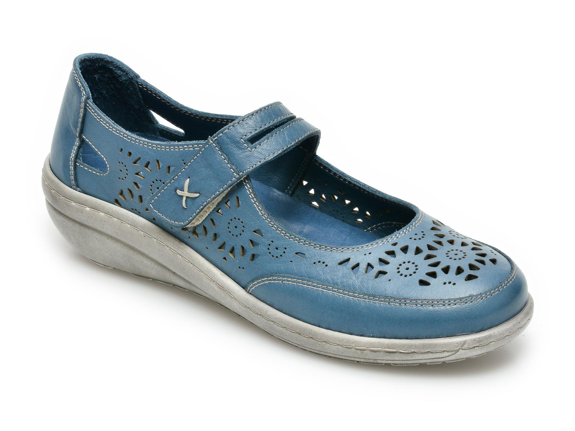 Pantofi PASS COLLECTION bleumarin, 62050, din piele naturala imagine otter.ro