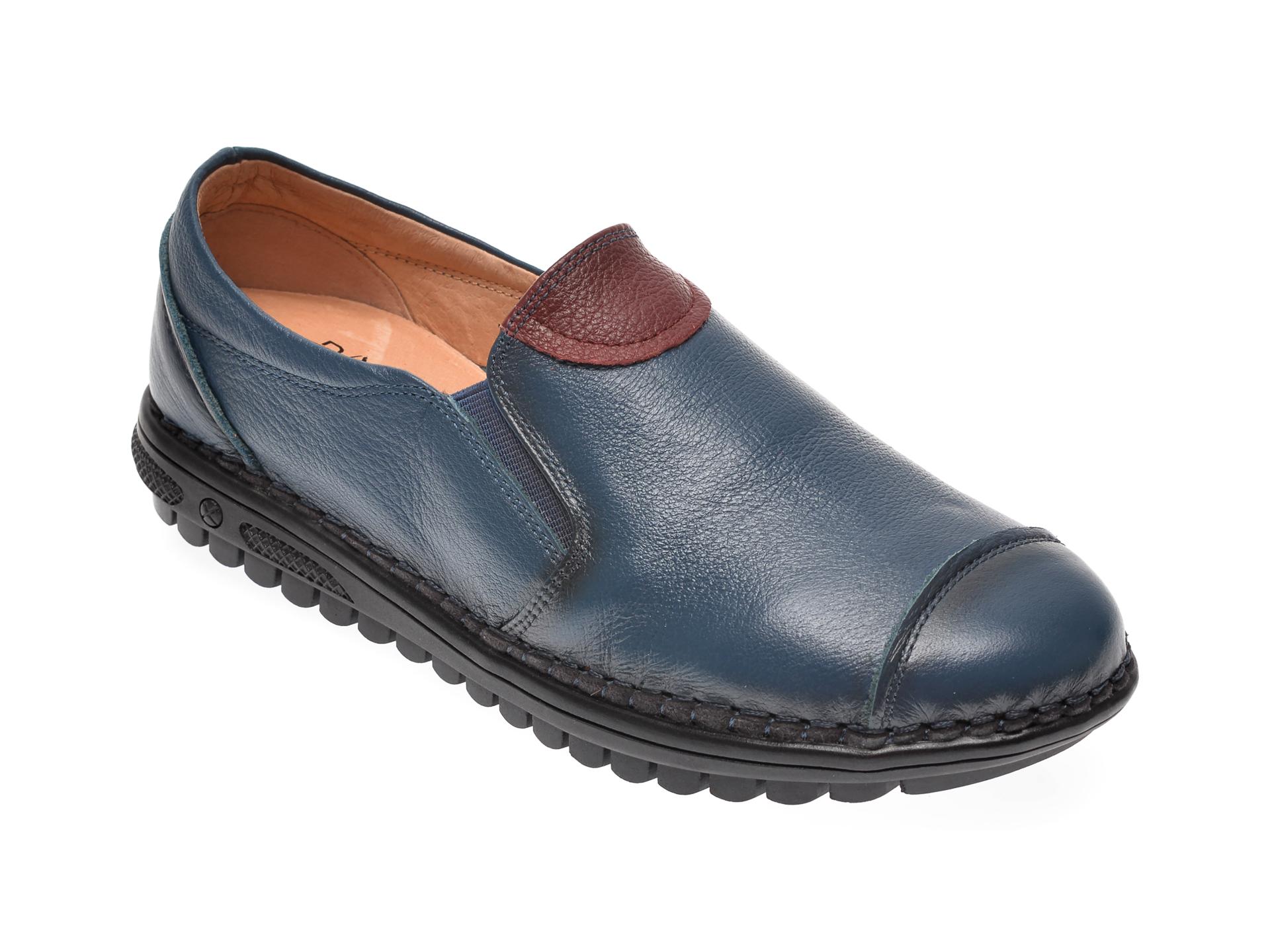 Pantofi PASS COLLECTION bleumarin, T7766, din piele naturala