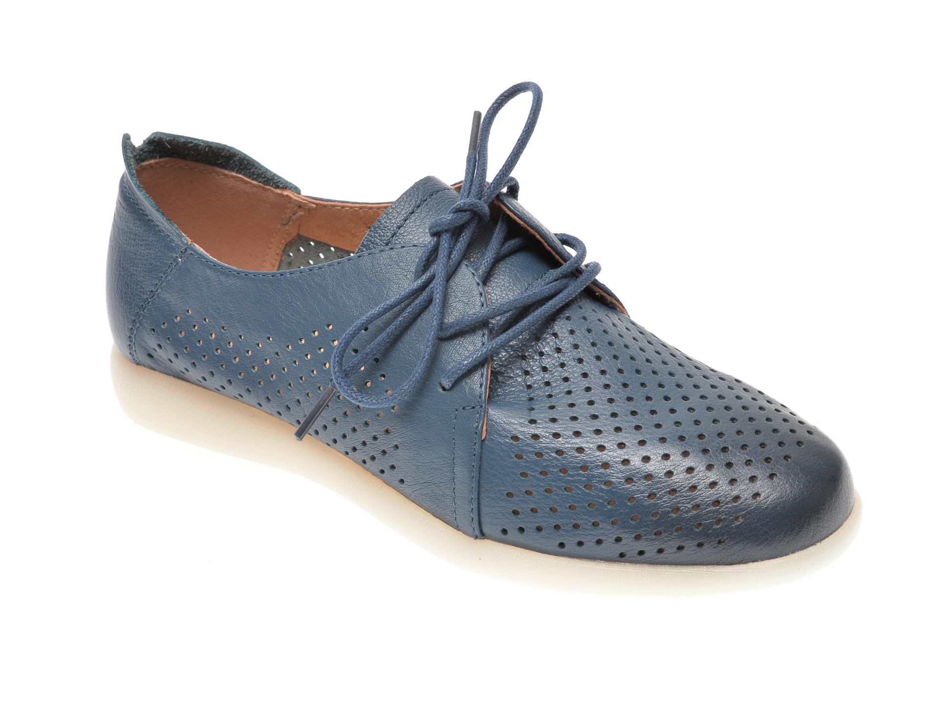 Pantofi PASS COLLECTION bleumarin, T9698, din piele naturala imagine