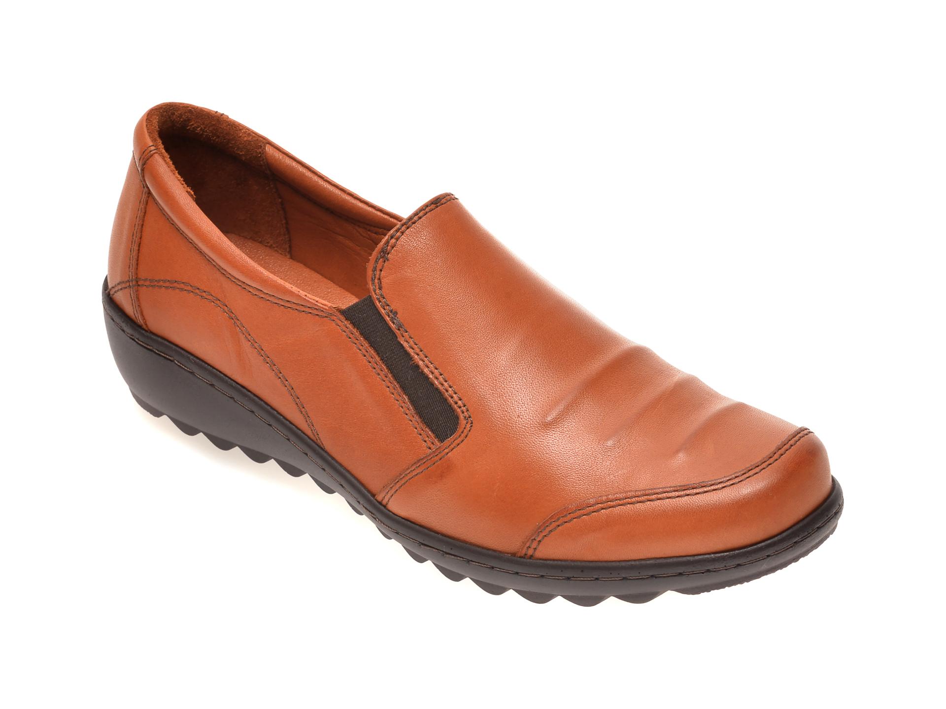 Pantofi PASS COLLECTION maro, 15115, din piele naturala imagine