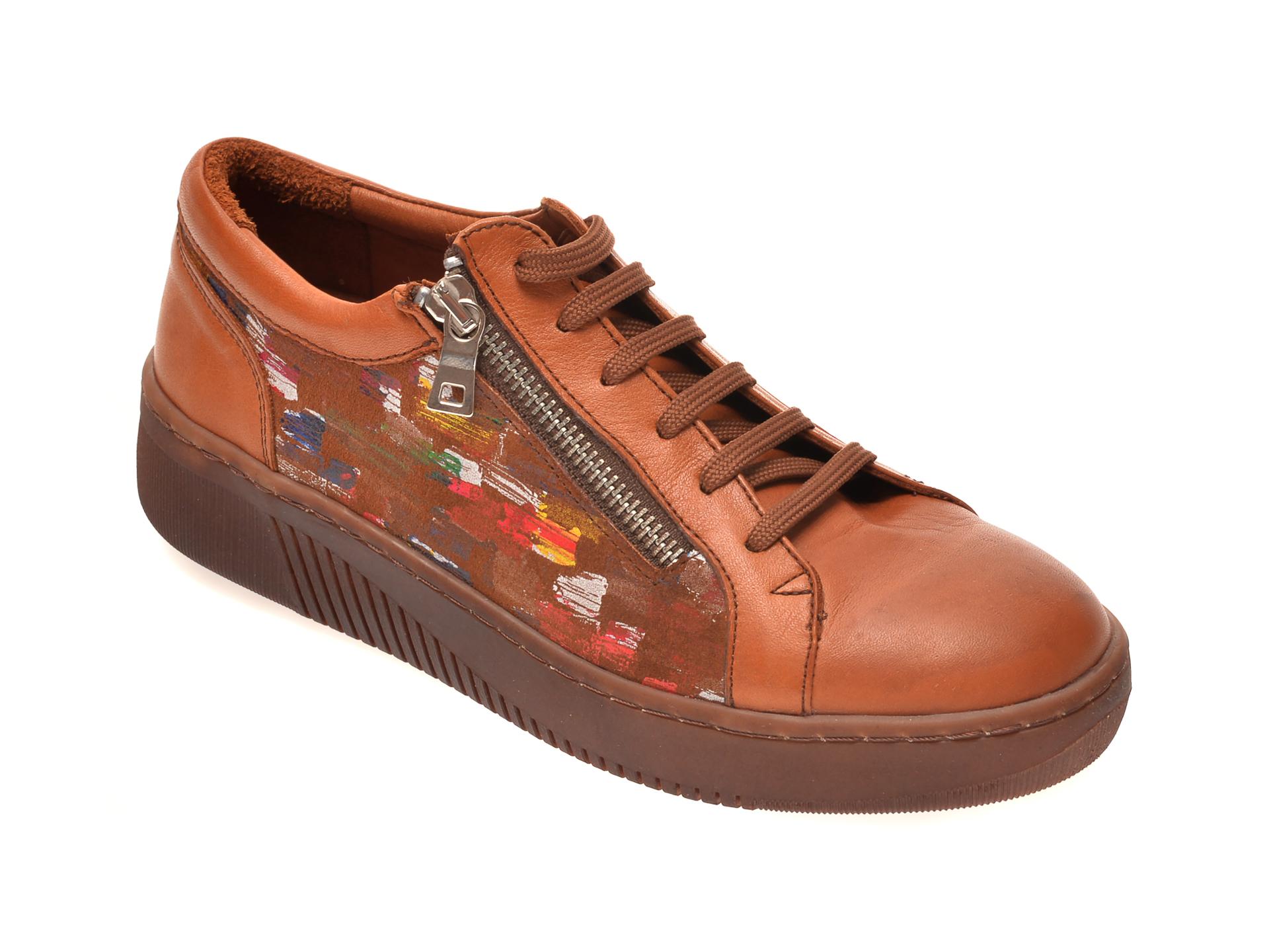 Pantofi PASS COLLECTION maro, 47529, din piele naturala New