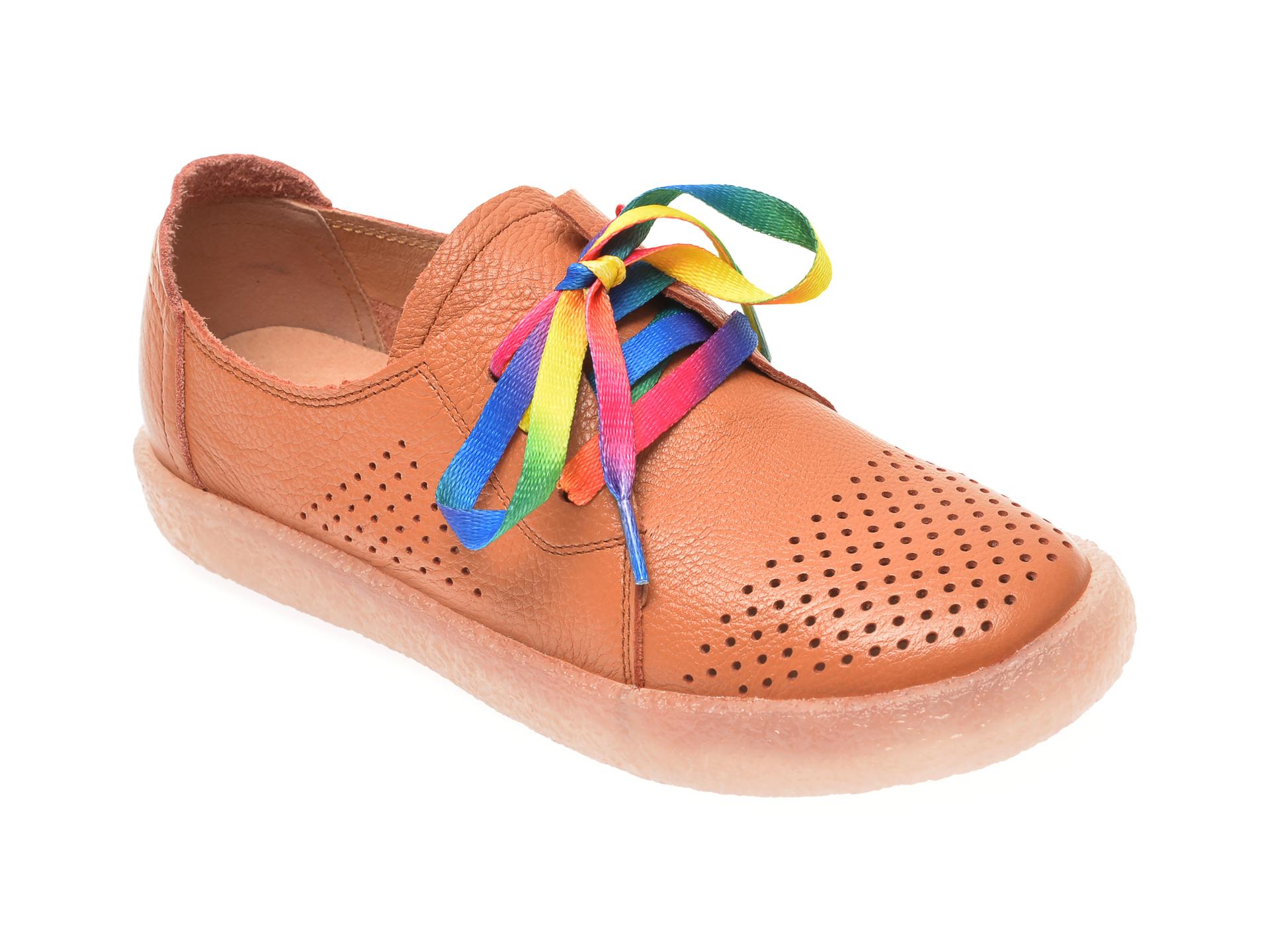 Pantofi PASS COLLECTION maro, T9019, din piele naturala