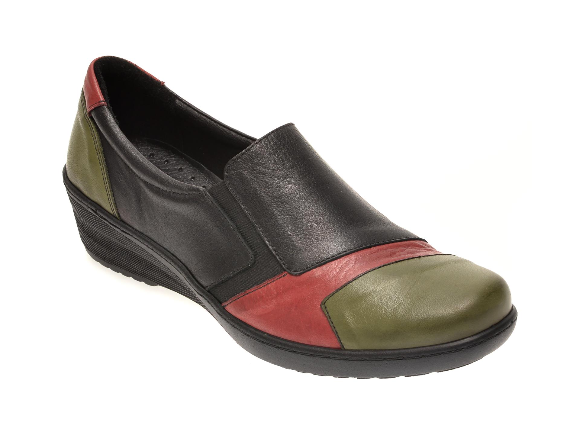 Pantofi PASS COLLECTION negri, 46218, din piele naturala imagine