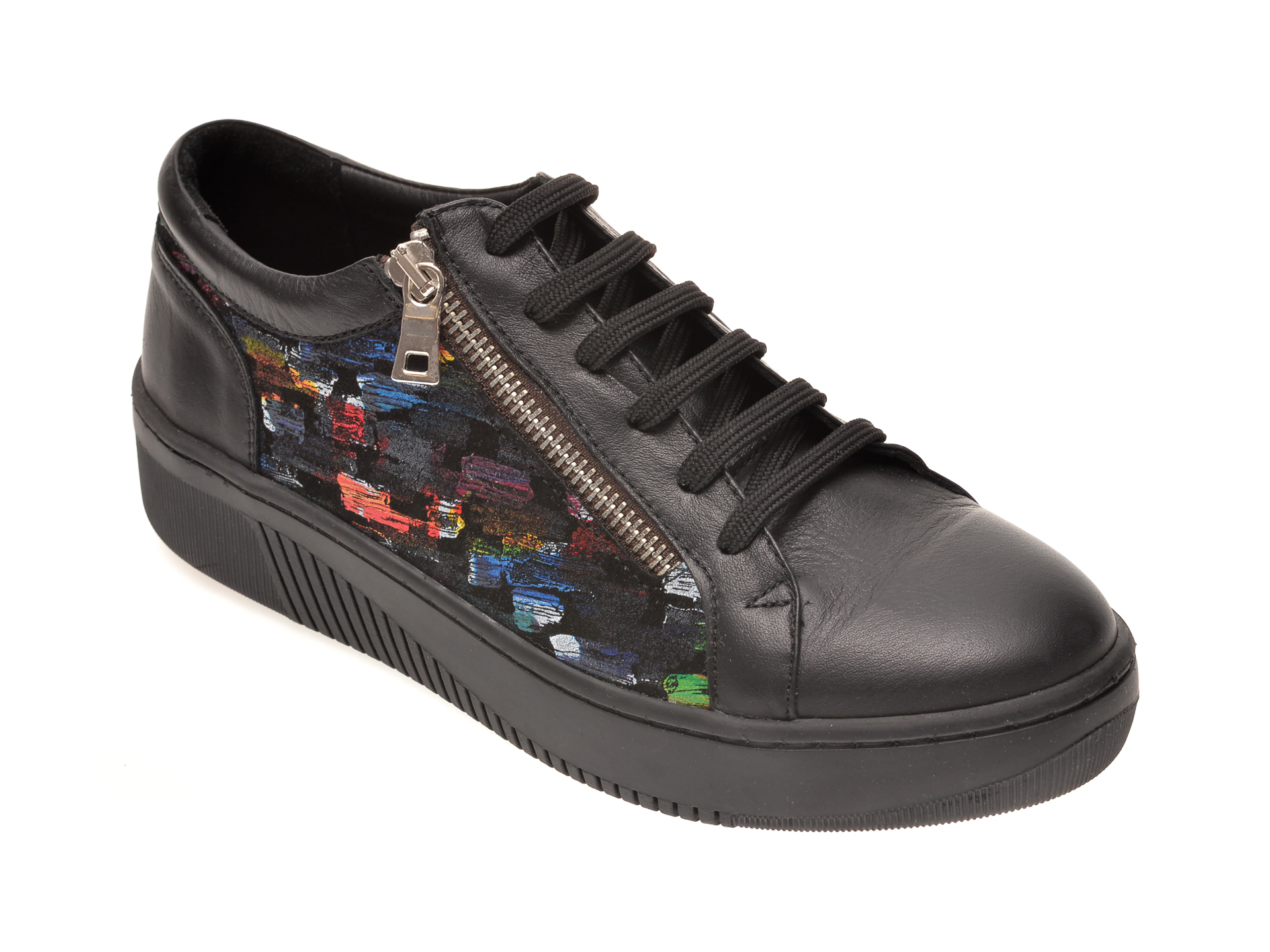 Pantofi PASS COLLECTION negri, 47529, din piele naturala