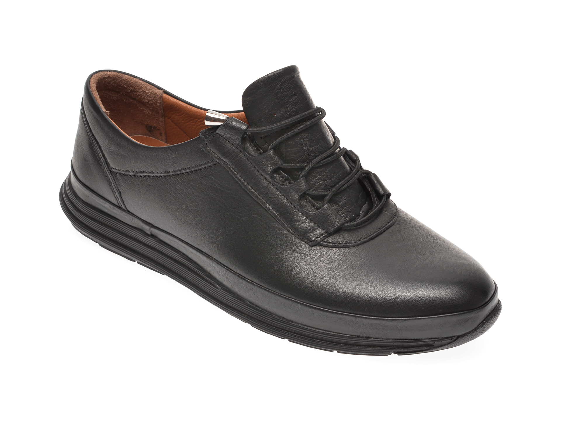 Pantofi PASS COLLECTION negri, 7021, din piele naturala New