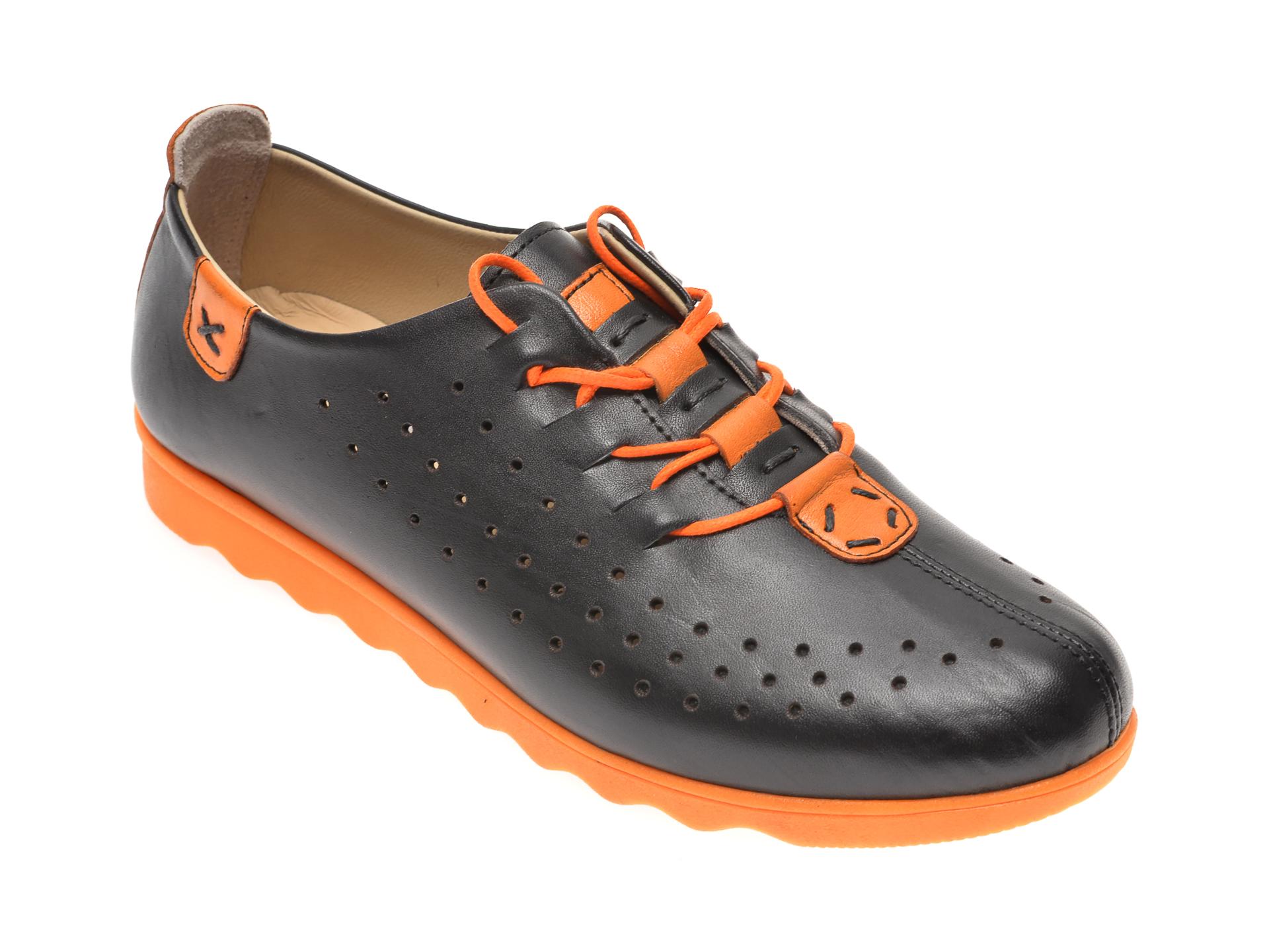 Pantofi PASS COLLECTION negri, K92101, din piele naturala