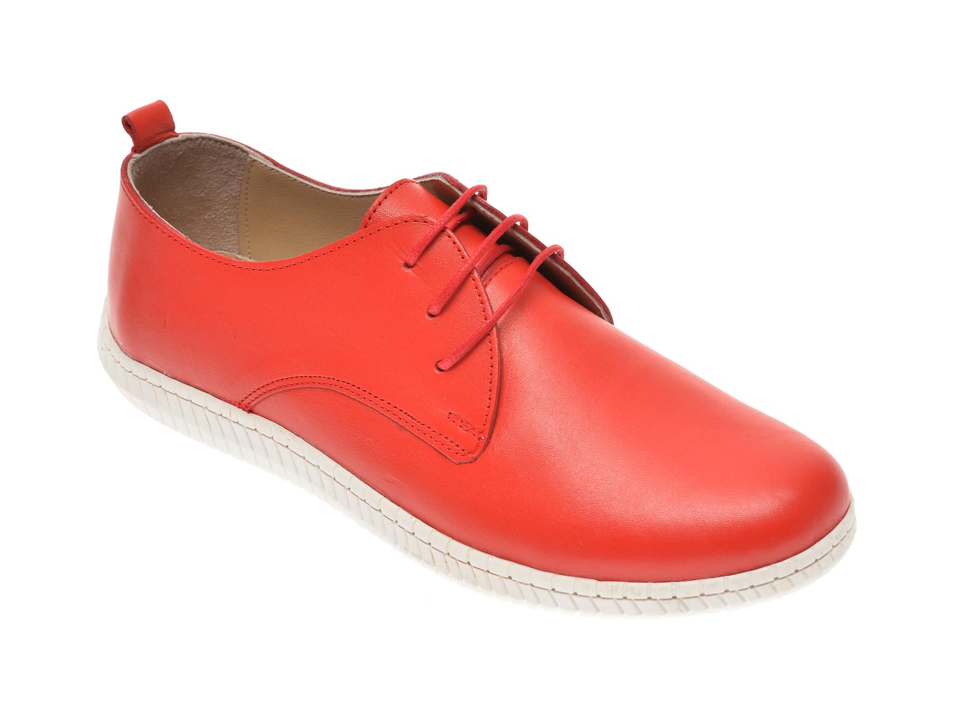 Pantofi PASS COLLECTION rosii, K92103, din piele naturala