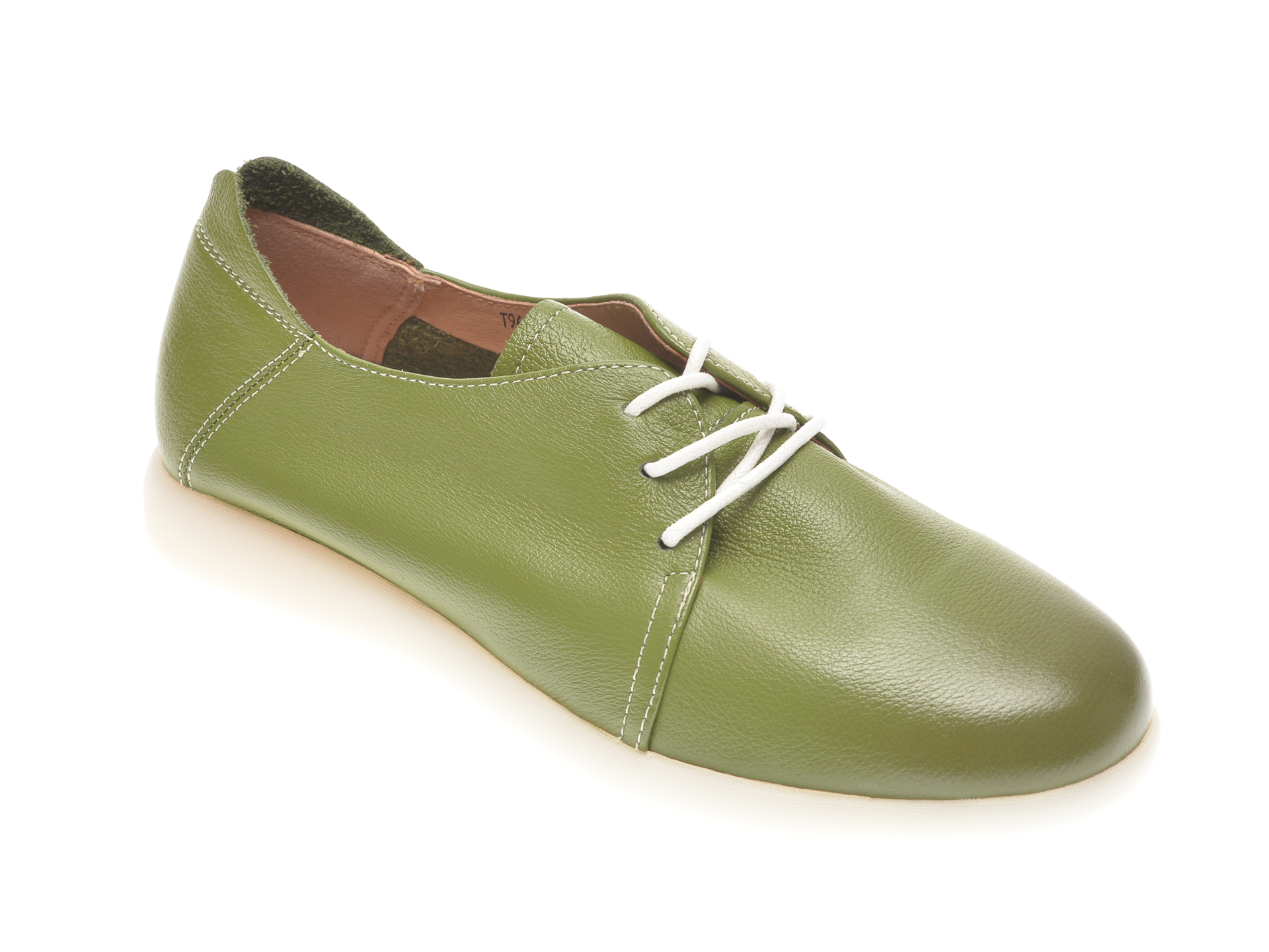 Pantofi PASS COLLECTION verzi, T9698, din piele naturala imagine