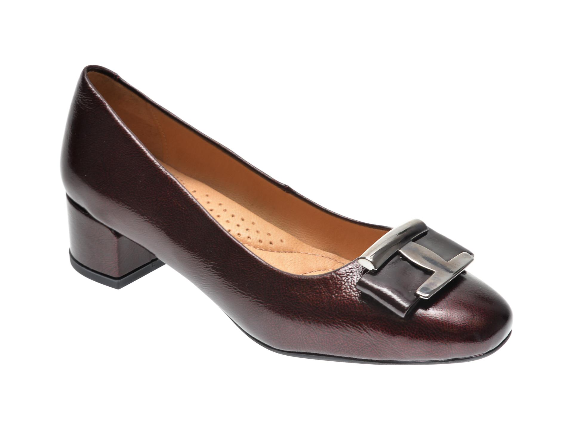 Pantofi PASS COLLECTION visinii, 560, din piele naturala lacuita New
