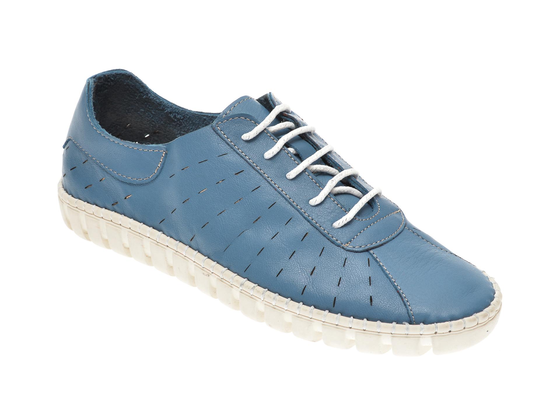 Pantofi PAVARELLA albastri, 6020, din piele naturala