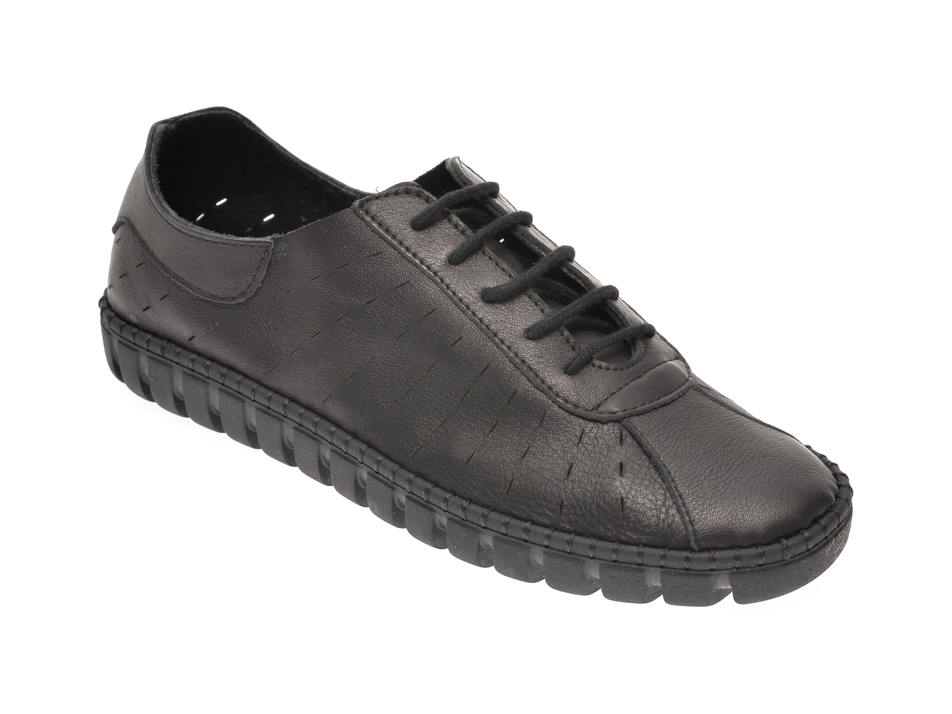 Pantofi PAVARELLA negri, 6020, din piele naturala