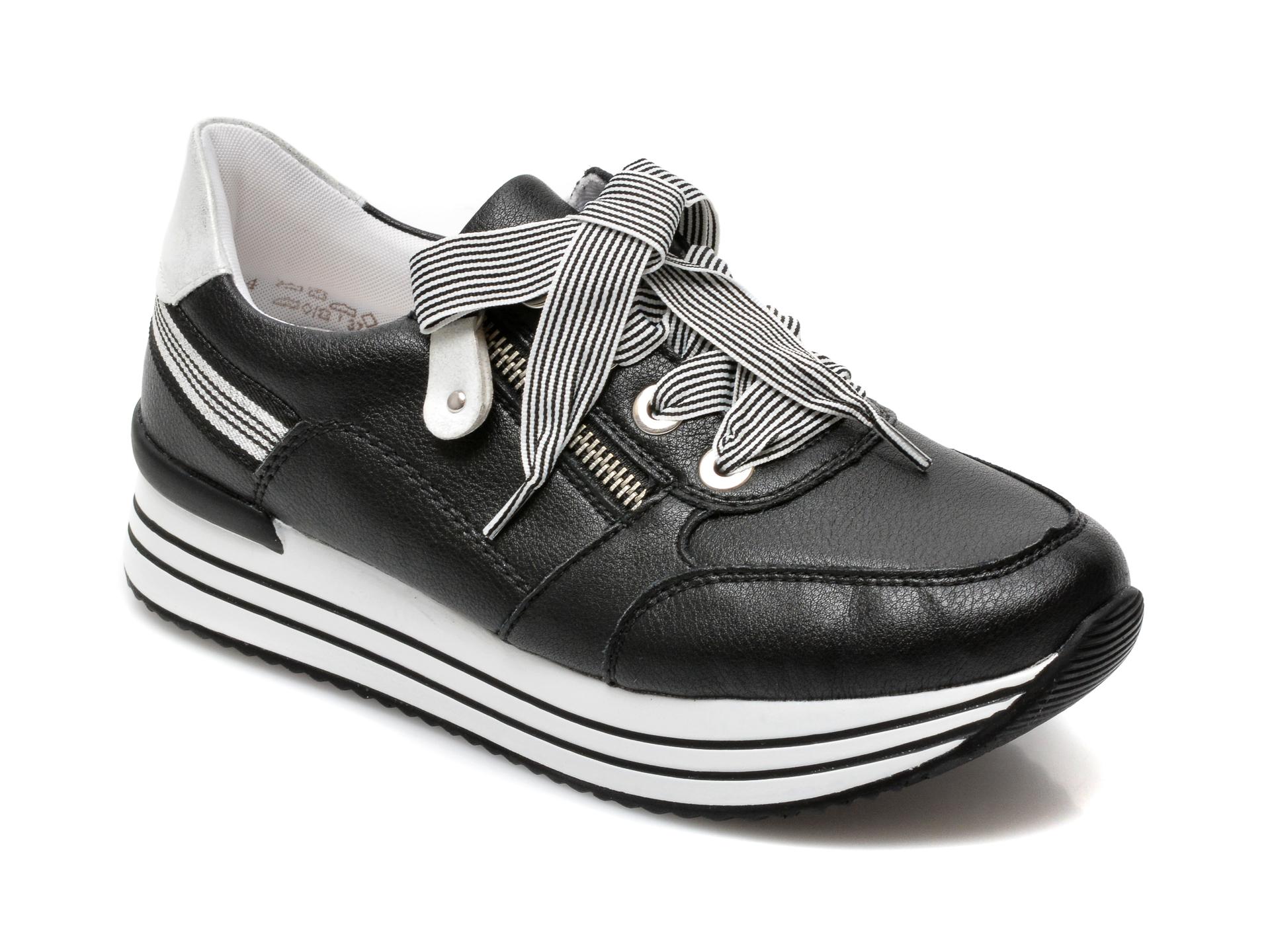 Pantofi REMONTE negri, D1312, din piele naturala imagine otter.ro 2021