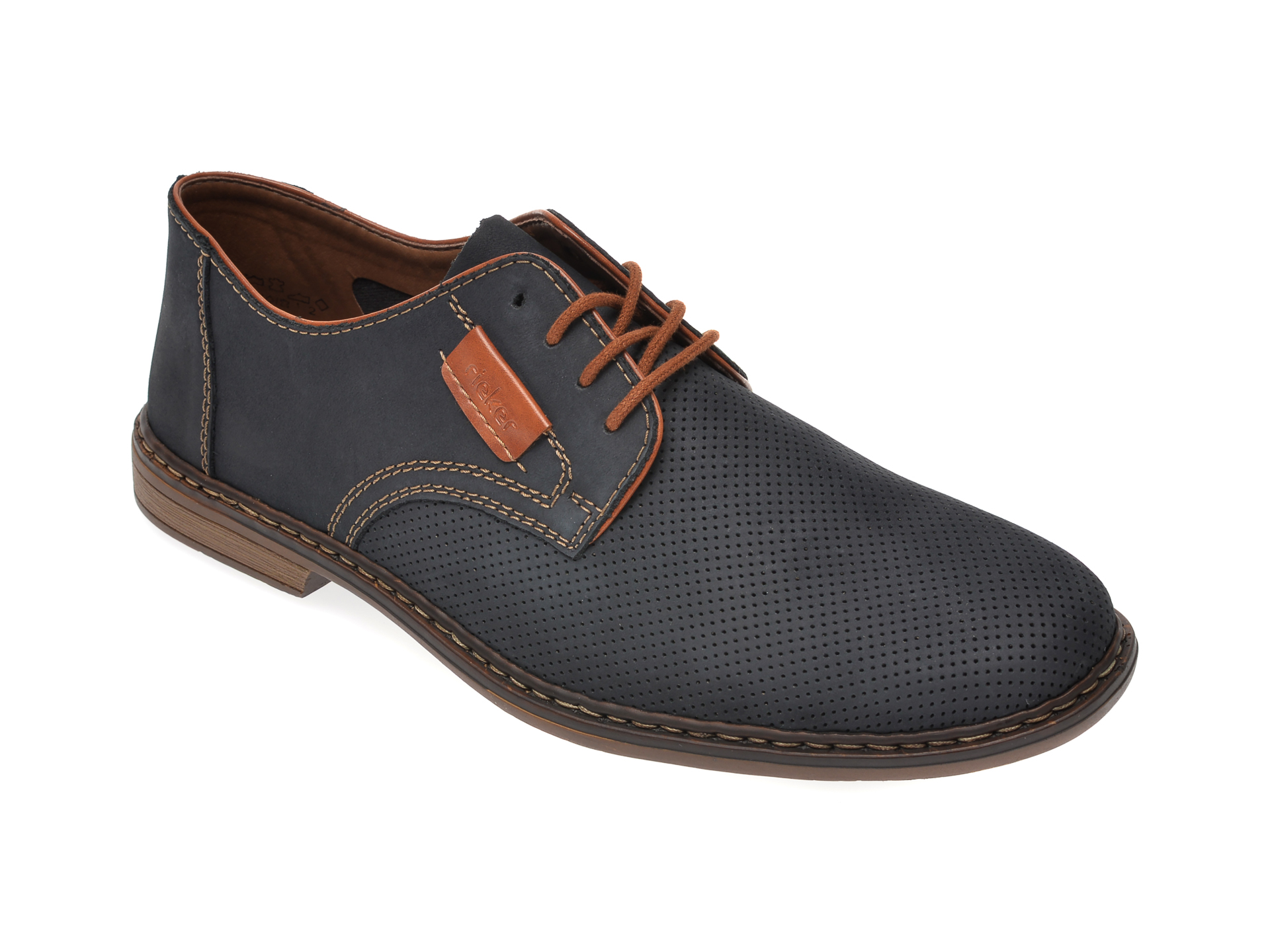 Pantofi RIEKER bleumarin, 13439, din piele naturala imagine